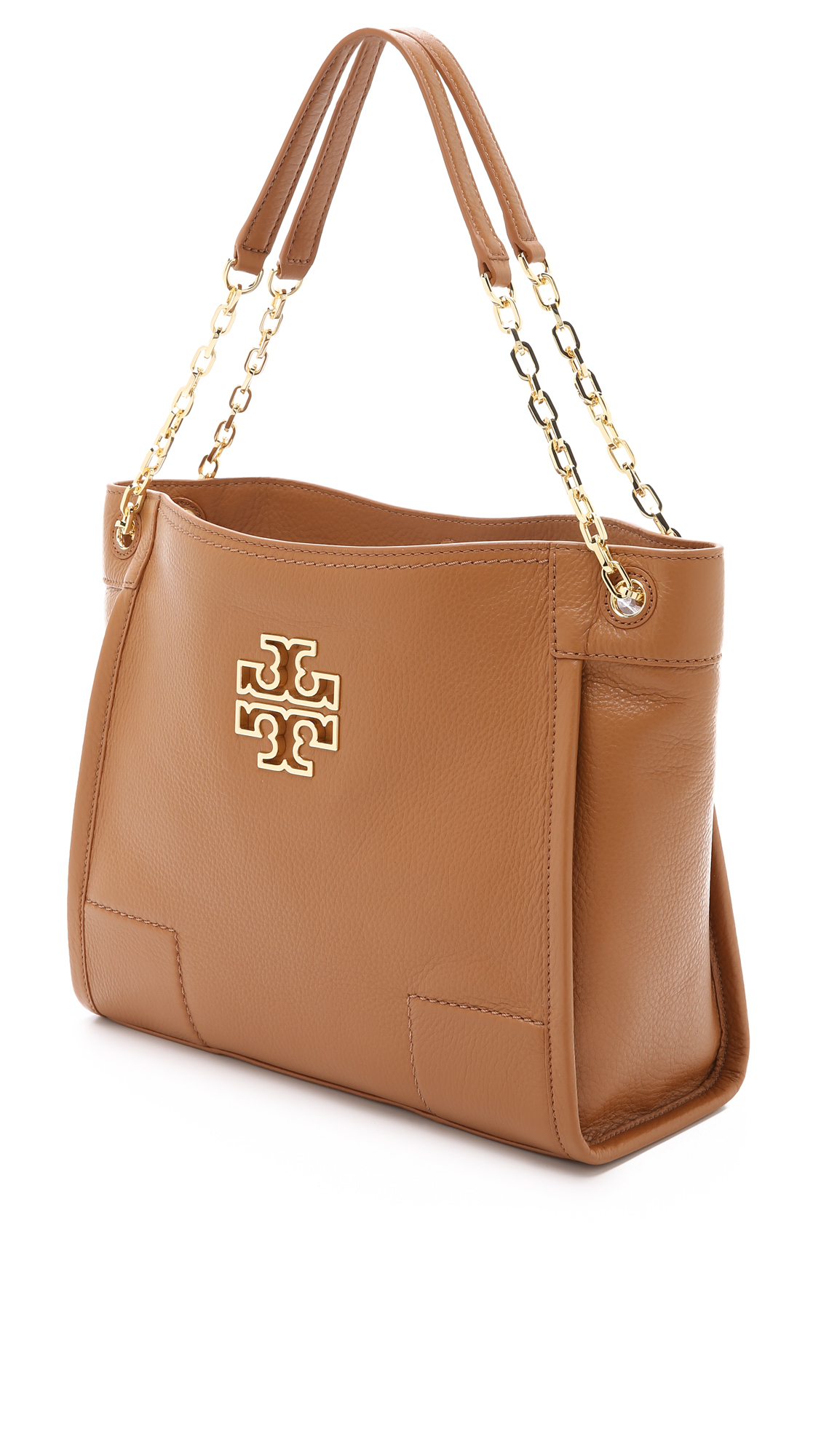 53b808514a91 Lyst - Tory Burch Britten Small Slouchy Tote - Bark in Brown
