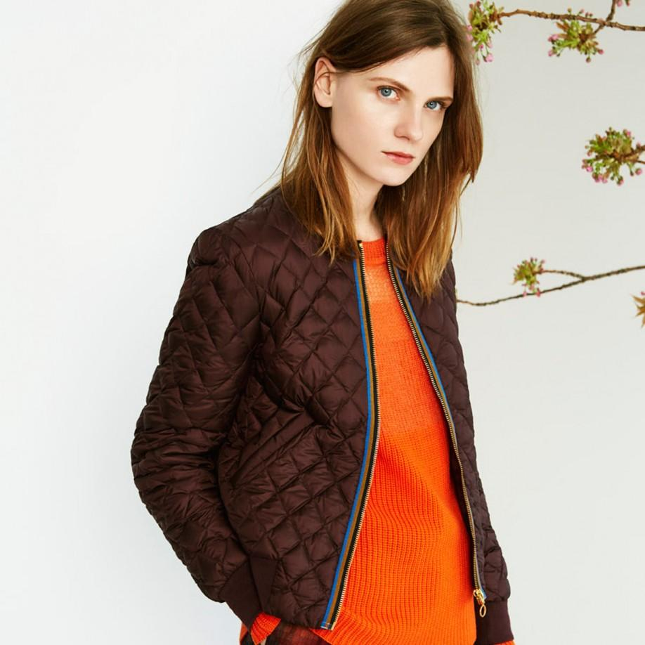 Lyst Paul Smith Quilted Bomber Jacket In Red