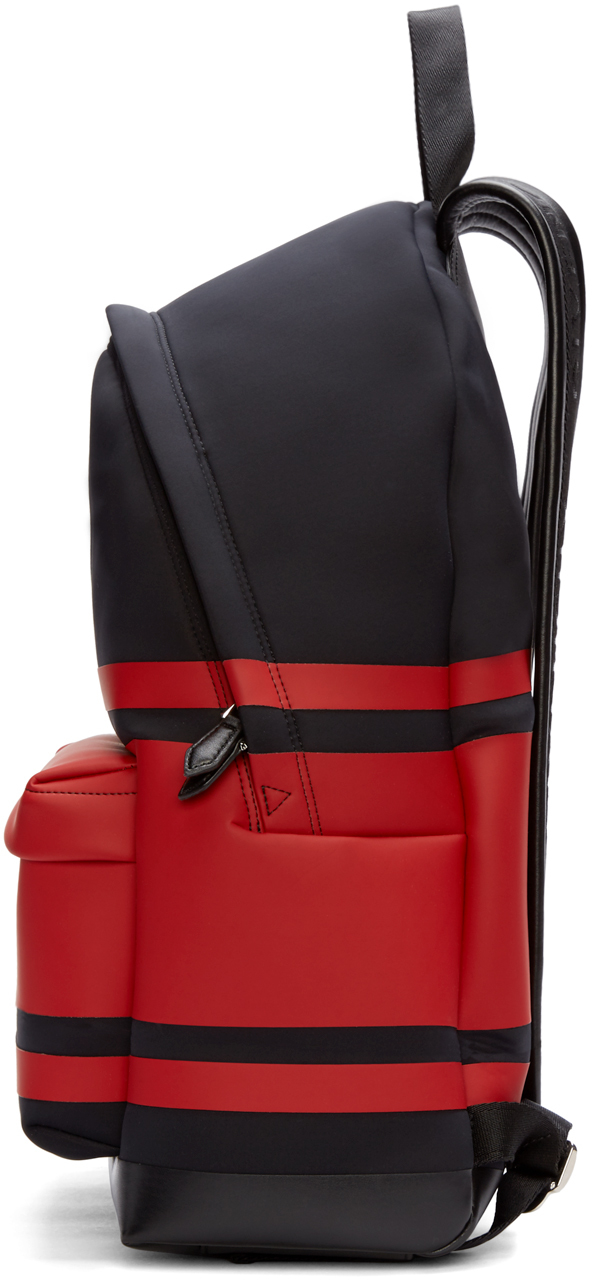 321825c095 Lyst - Givenchy Black And Red Striped Neoprene Backpack in Black