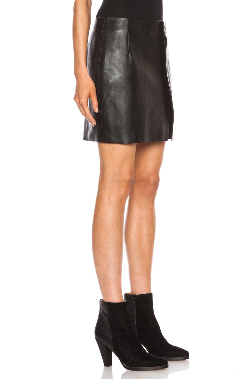 acne mini leather skirt in black lyst
