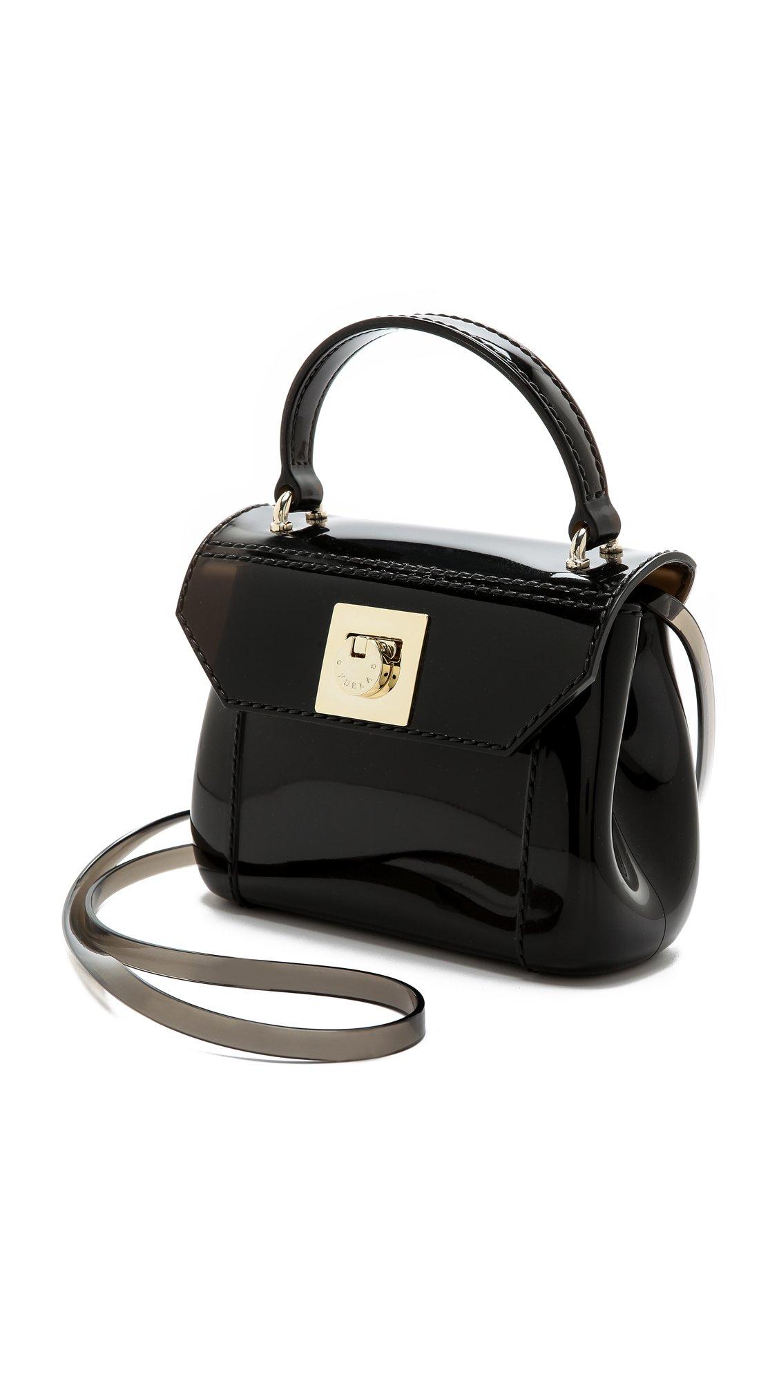 furla mini cross bag in black smoke black lyst