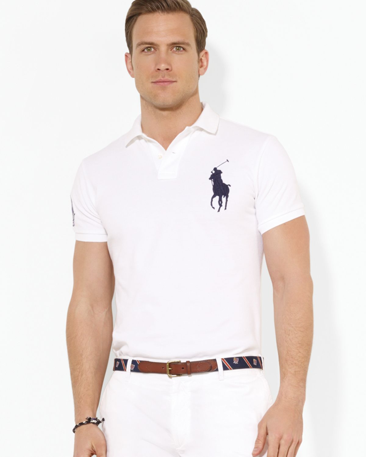 Lyst Ralph Lauren Polo Wimbledon Customfit Big Pony Polo Shirt In