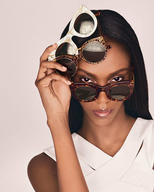 b5fdebbc035 Lyst - Illesteva Palm Beach Round Sunglasses in Brown