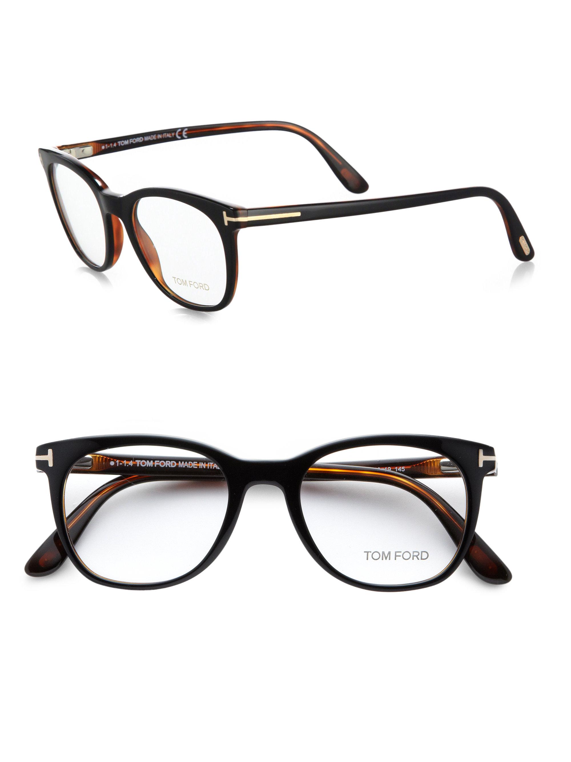 Tom Ford 5310 Rounded Optical Frames In Black For Men Lyst
