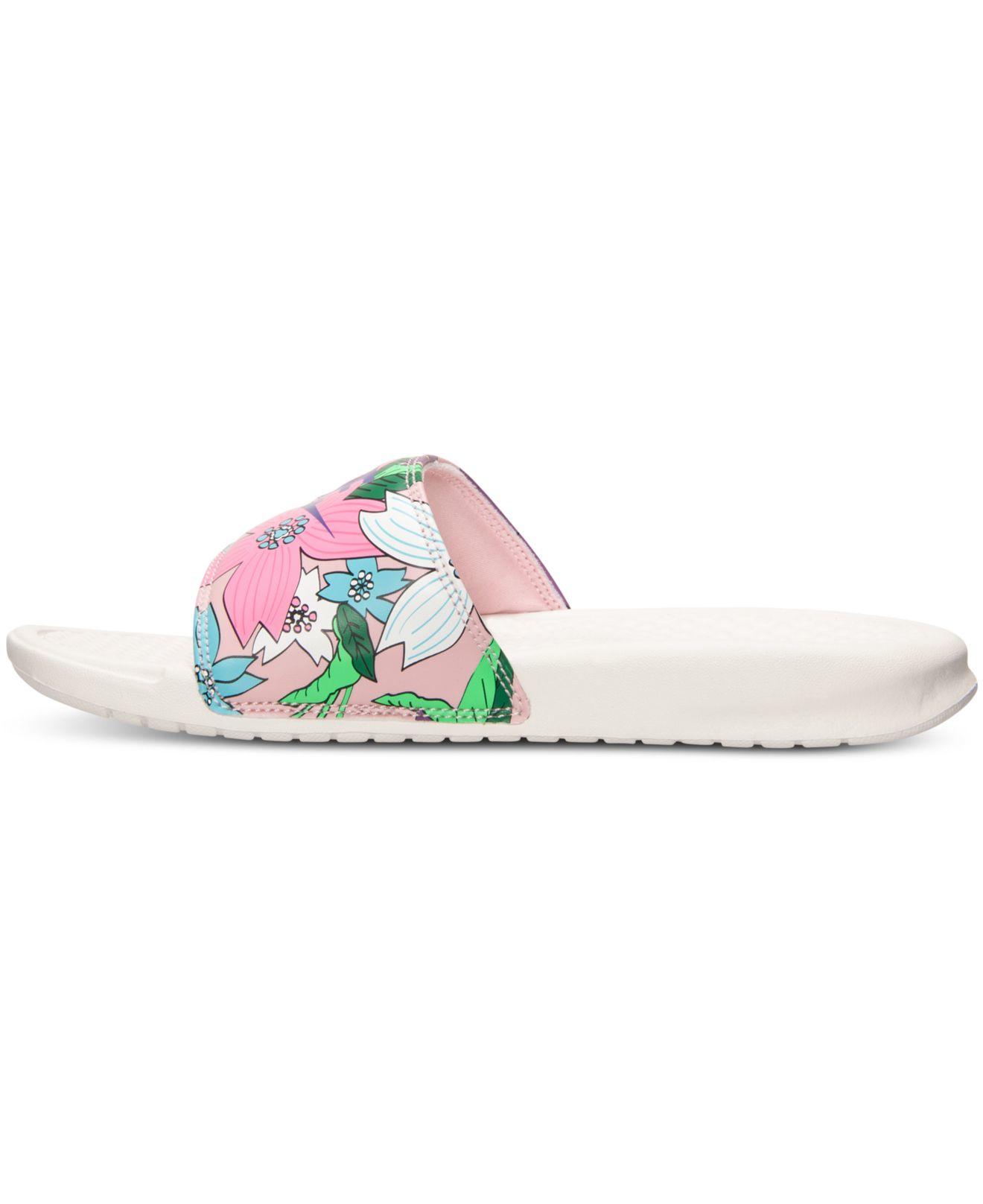 Unique Nike Sale  Nike Benassi JDI Slide Black Vivid Pink Women Shoes