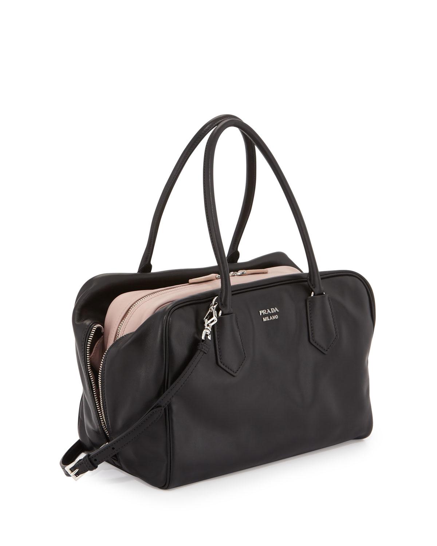 prada soft calf frame bag