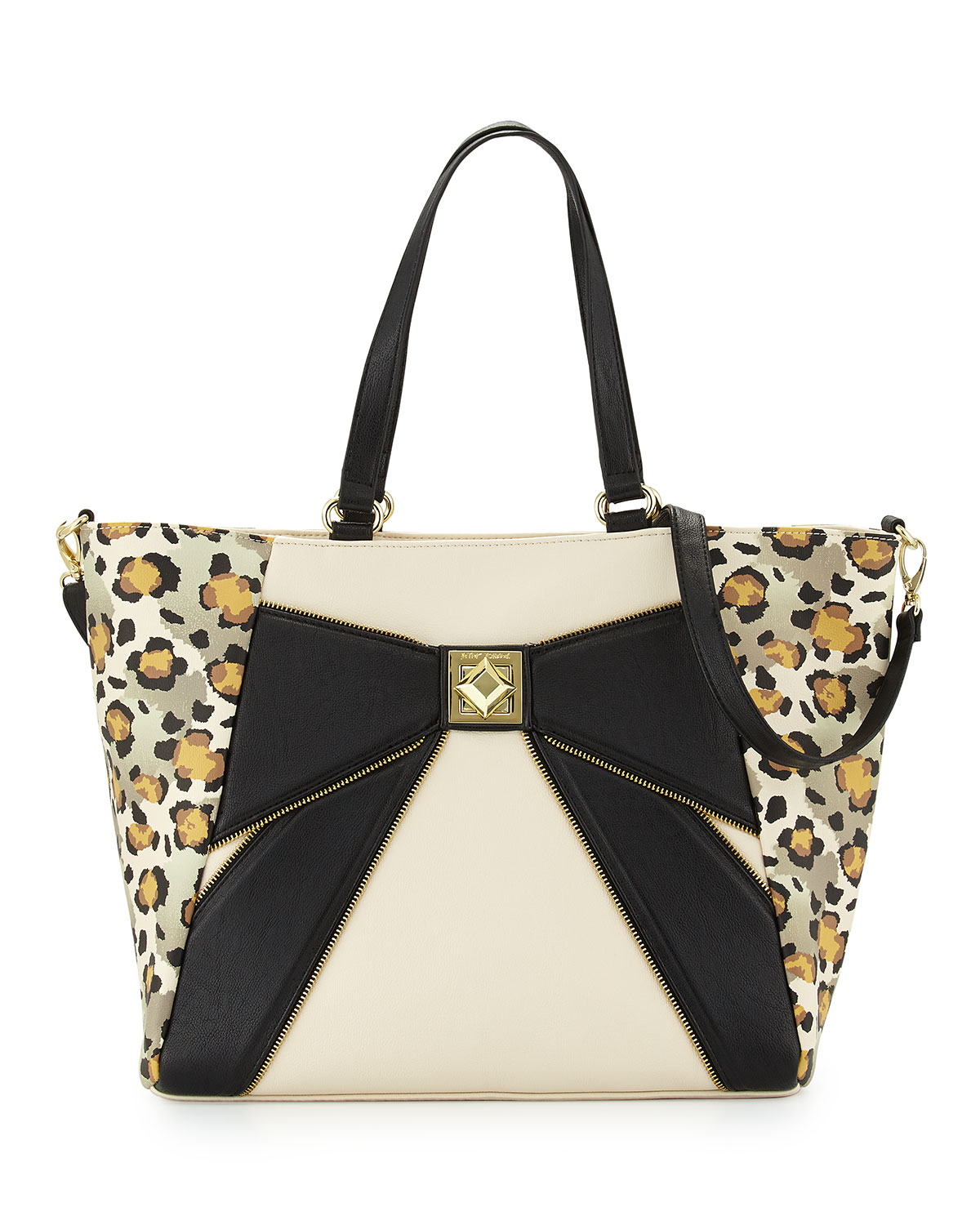 Lyst Betsey Johnson Leopard Print Bow Tote Bag