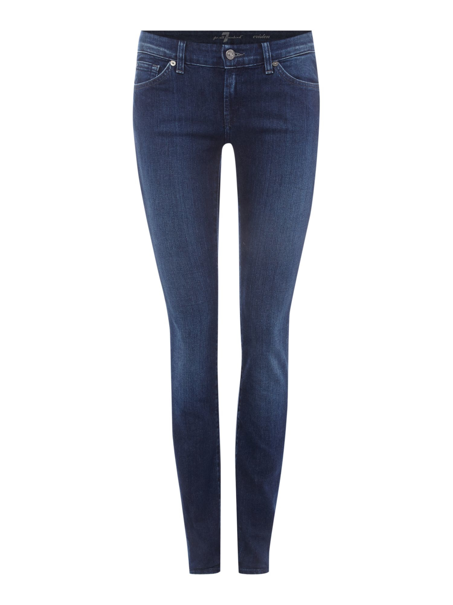 7 for all mankind Exclusive Cristen Mid Rise Skinny Mid Indigo in ...