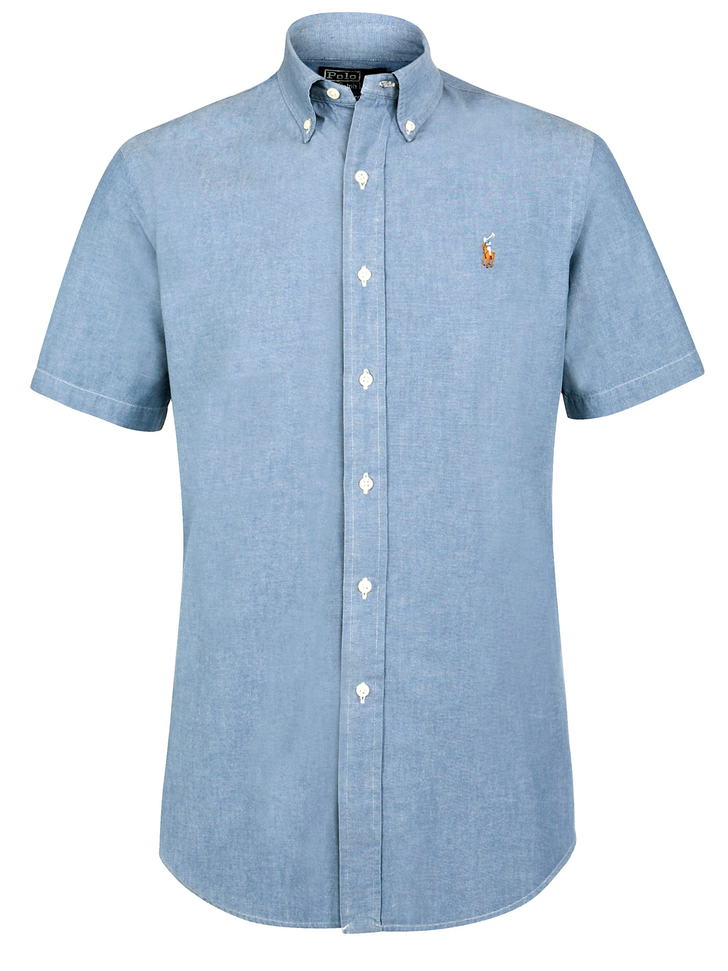 Polo Ralph Lauren Chambray Short Sleeve Shirt In Blue For