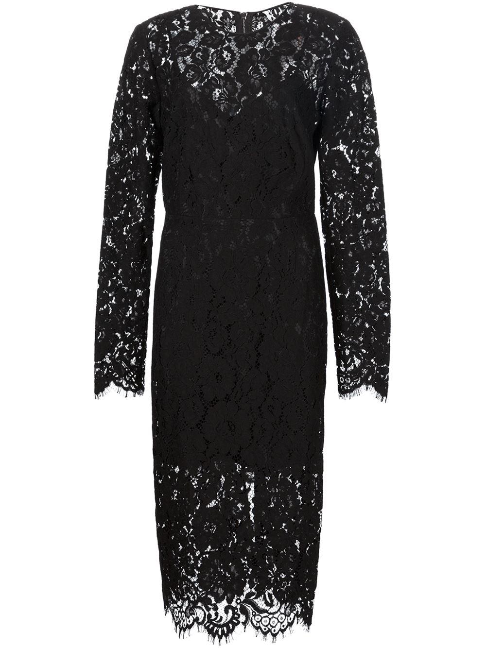 Lyst Veronica Beard Gynne Lace Midi Dress In Black