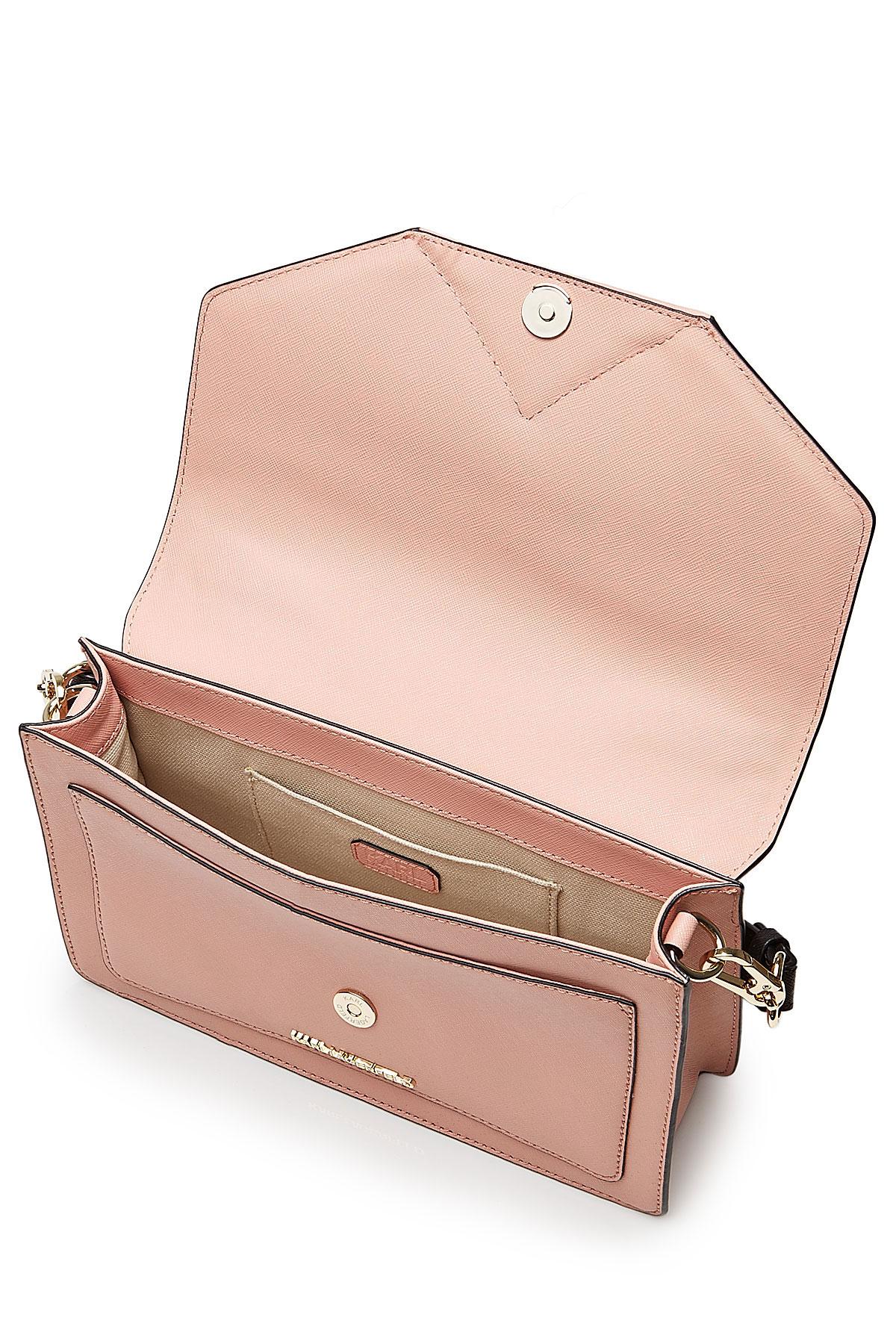 ade0acef073a0 Lyst - Karl Lagerfeld K klassik Leather Shoulder Bag - Rose in Pink