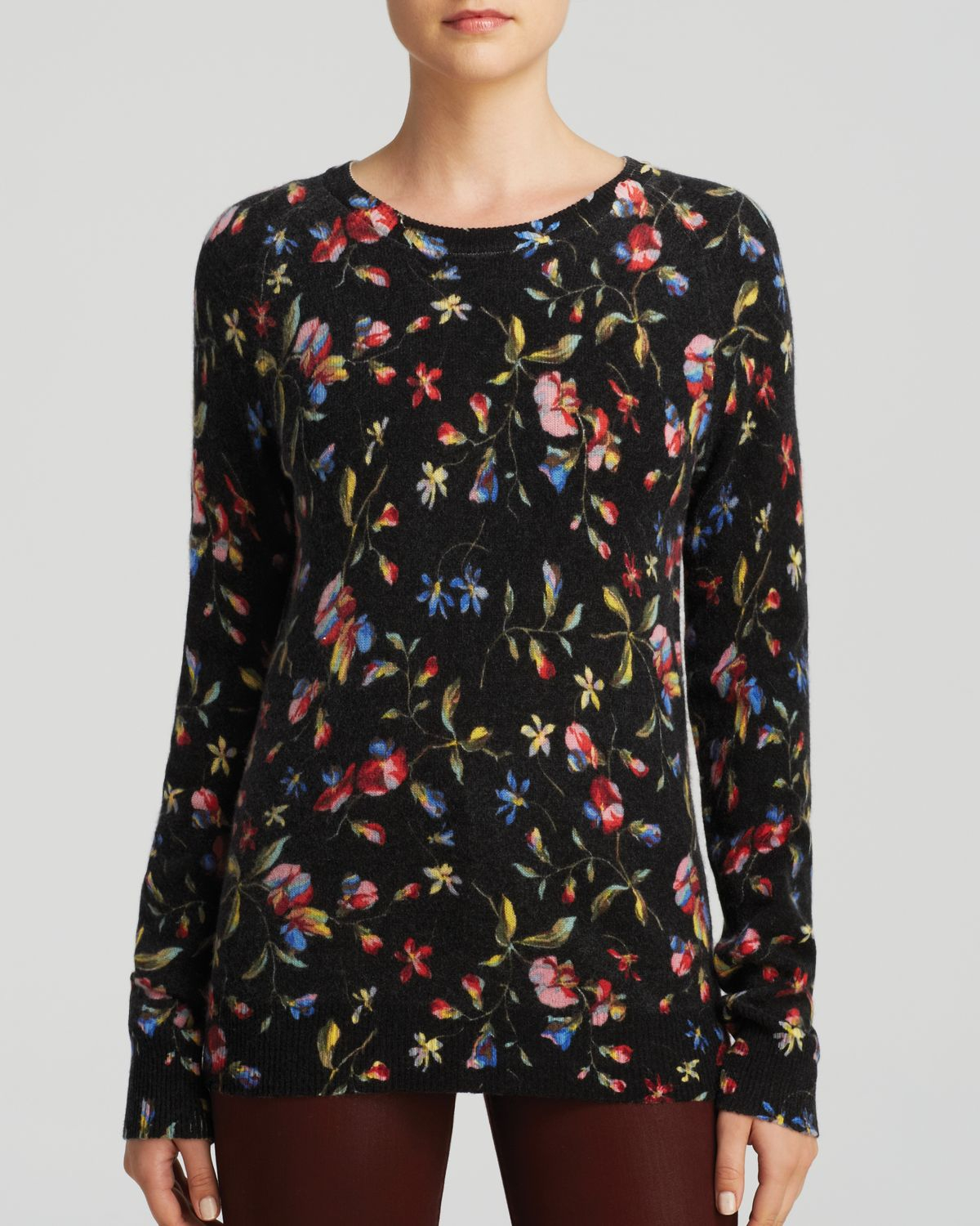 Equipment Sweater - Sloane Crewneck Floral Cadence Print Cashmere ...