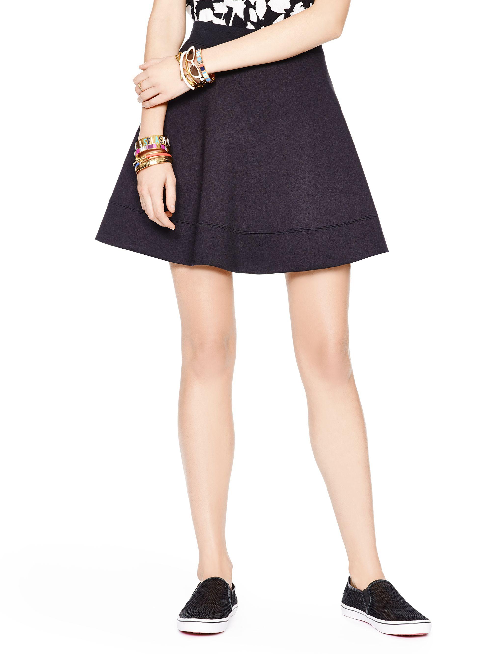 Lyst Kate Spade New York Scuba Circle Skirt In Black
