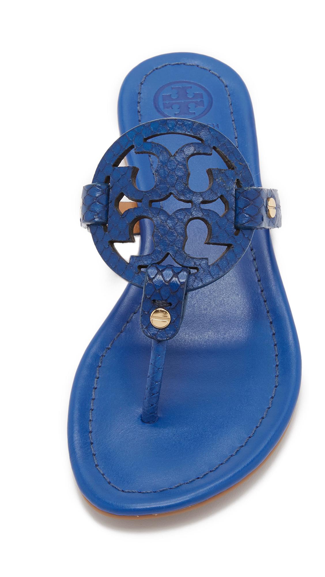 Lyst Tory Burch Miller Sandals In Blue