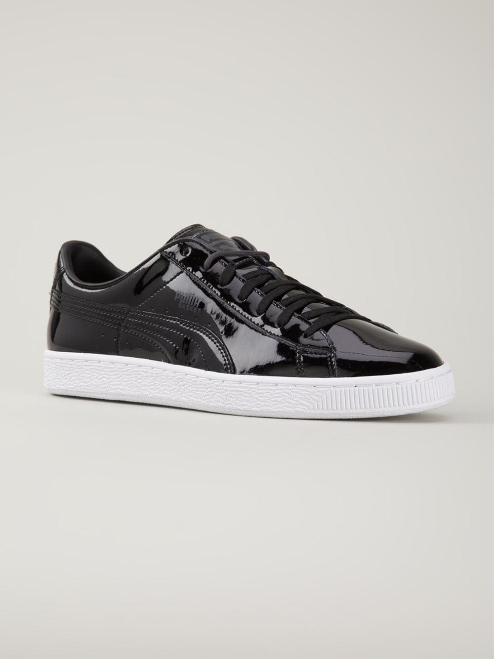 5fbcaef7c9098b Lyst - PUMA  Basket Classic Patent  Sneakers in Black for Men