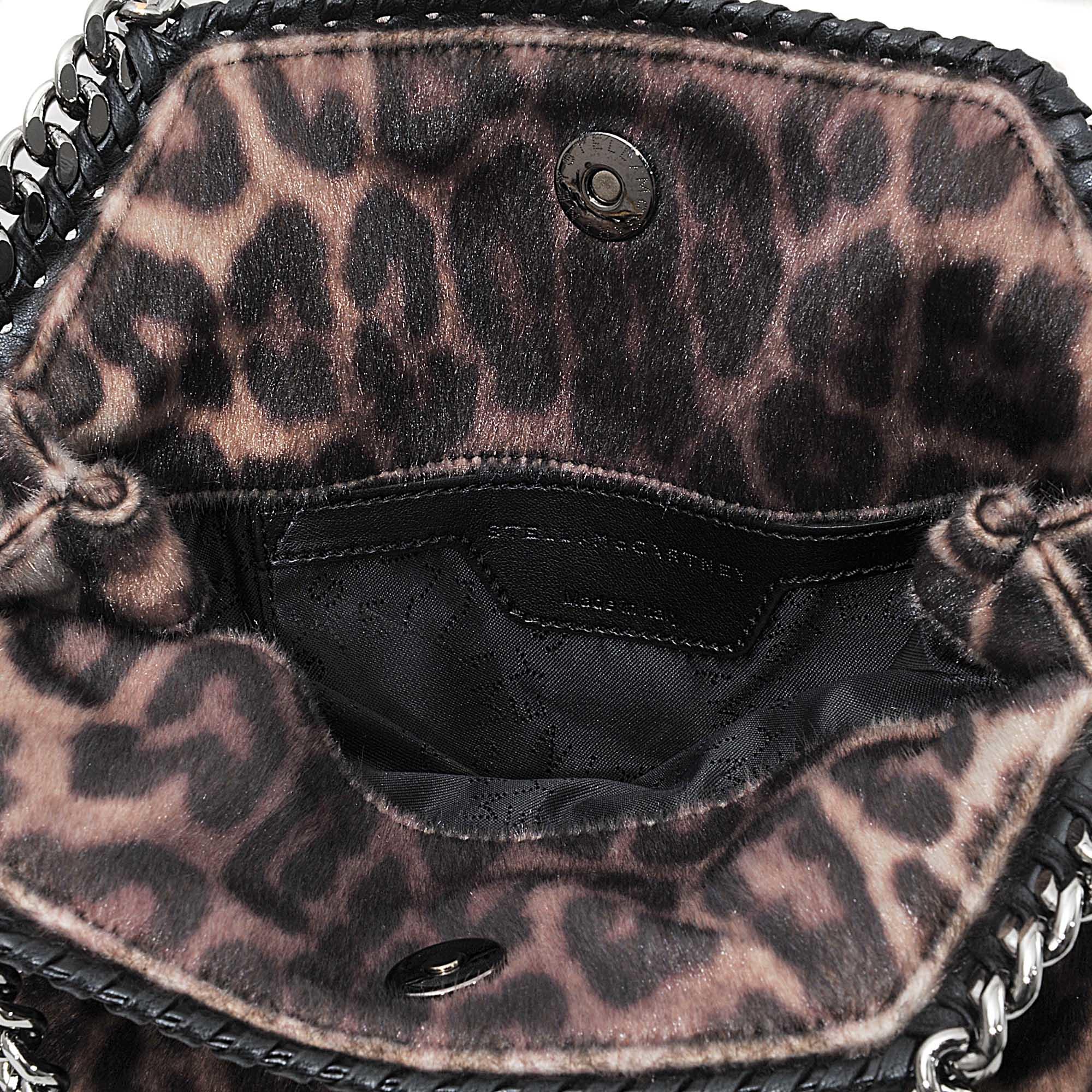 39907285cdd3 Stella McCartney Mini Tote Falabella Leopard Bag - Lyst