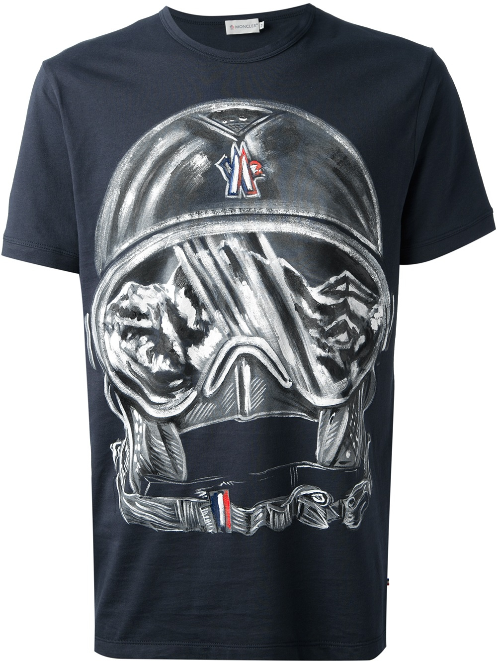 lyst moncler helmet print tshirt in blue for men. Black Bedroom Furniture Sets. Home Design Ideas