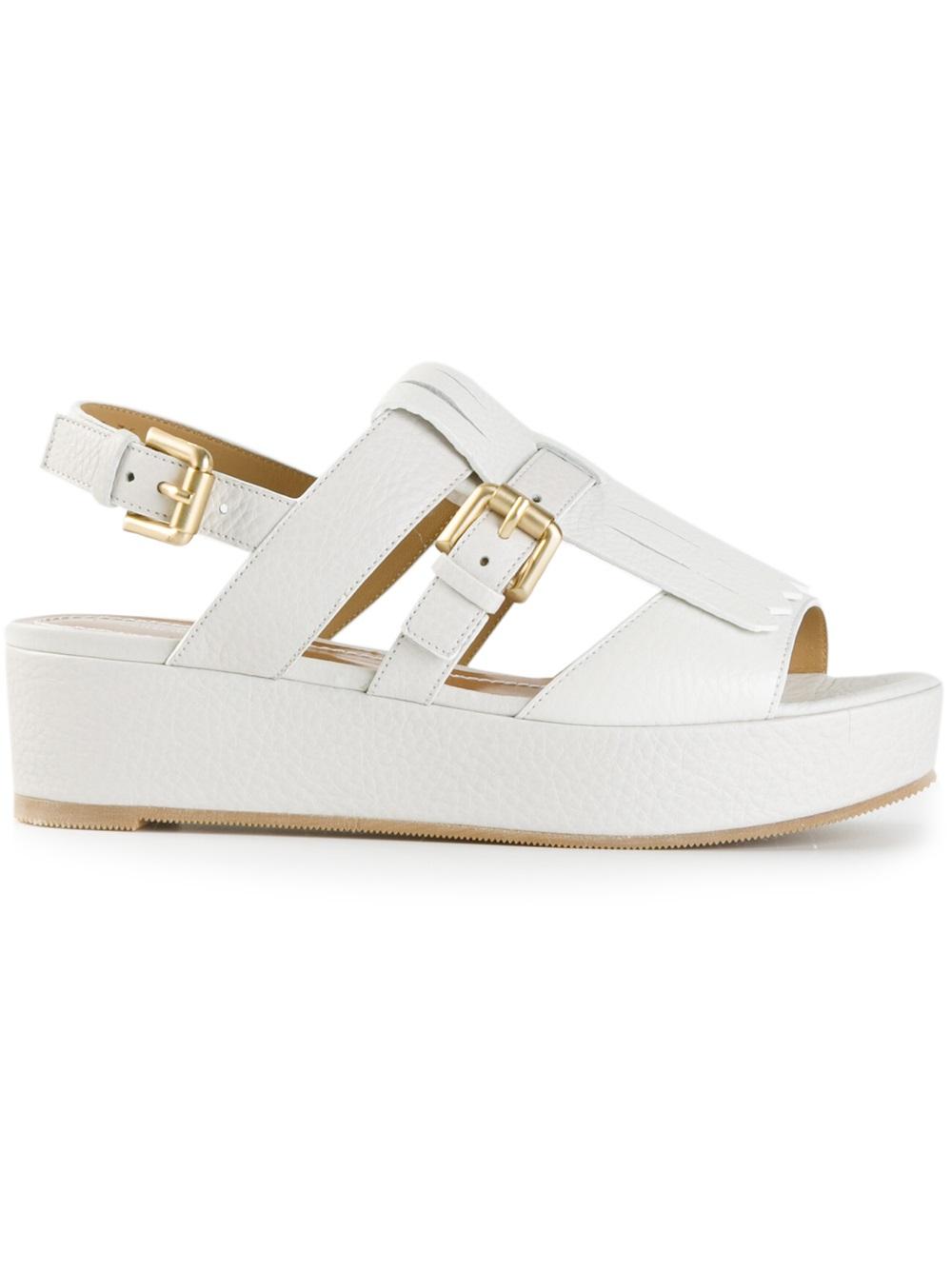 platform sandals - White Santoni wRHACIP