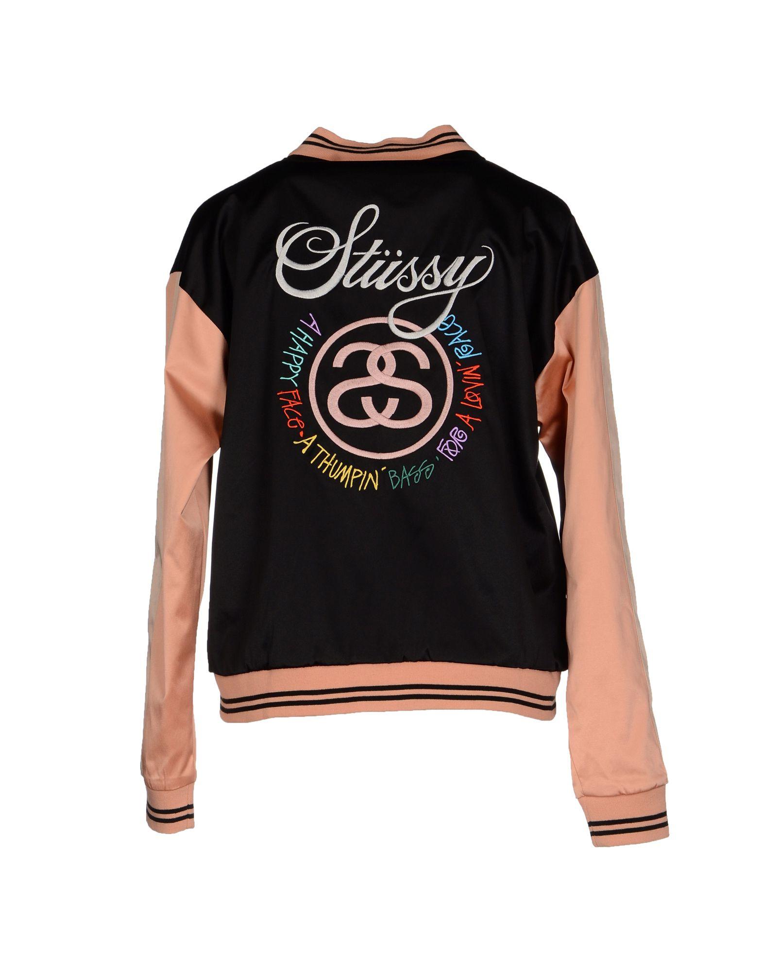 stussy jacket in black lyst