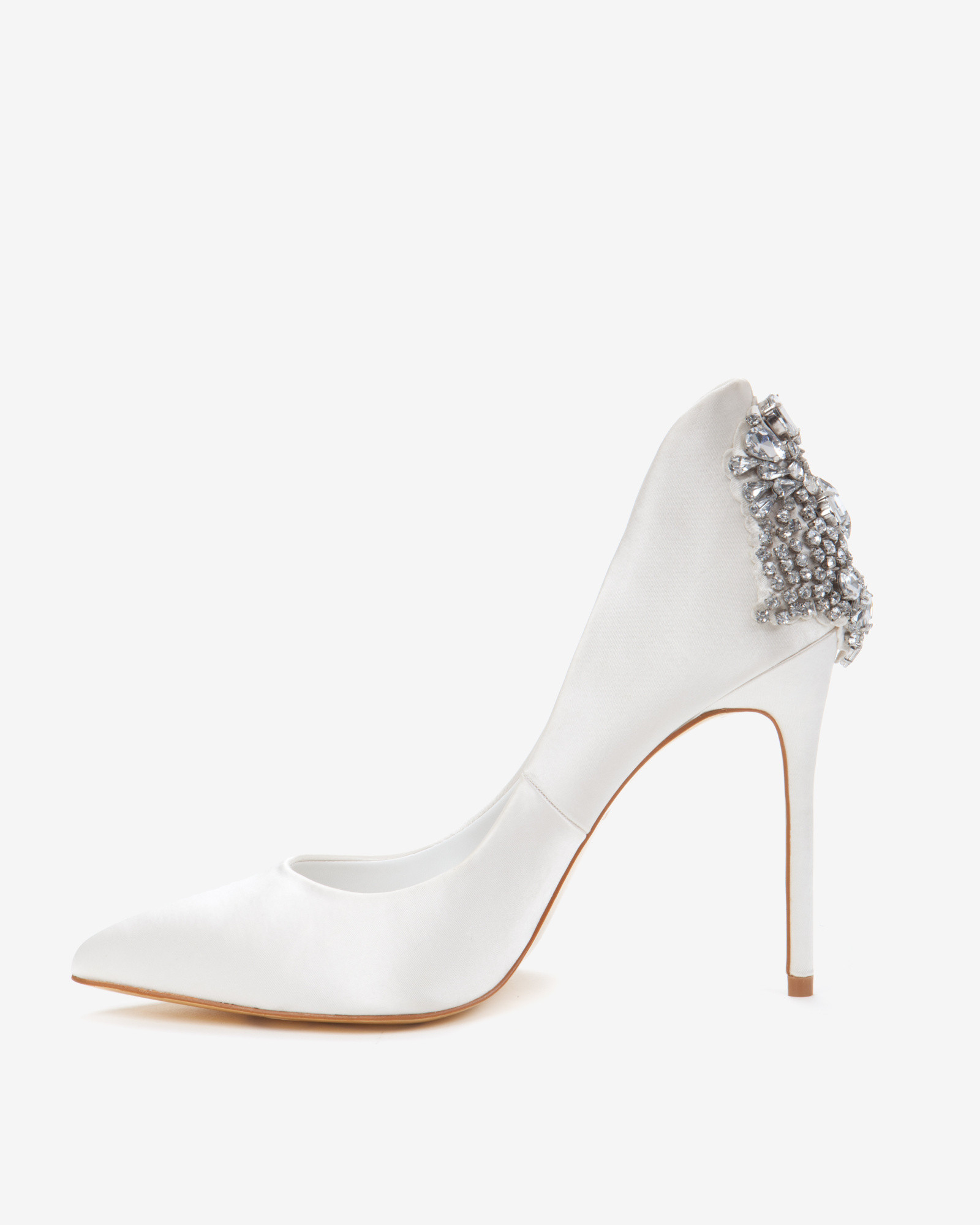 2e67679db Lyst - Ted Baker Embellished Court Shoes in White
