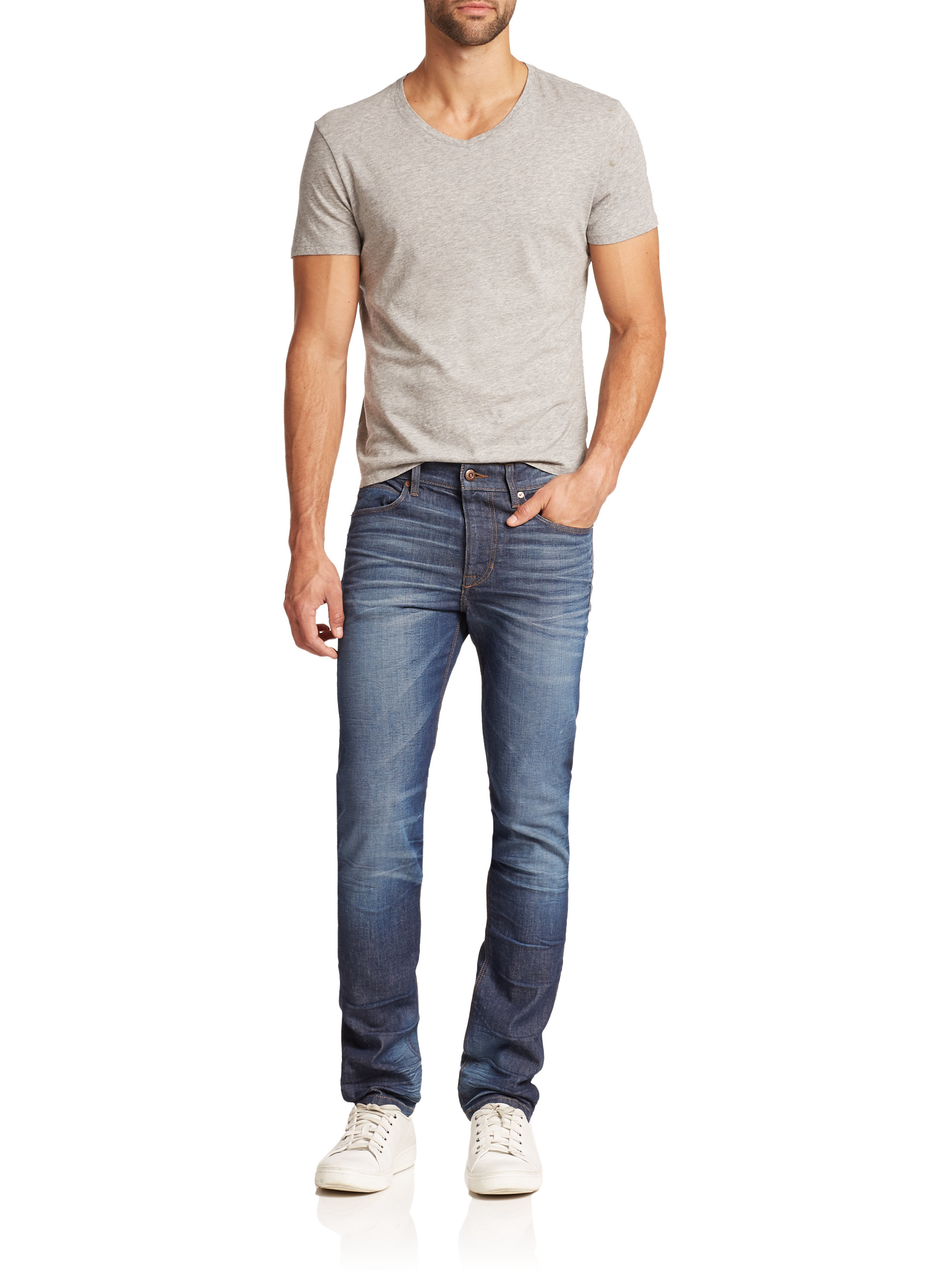joe 39 s jeans slim fit jeans in blue for men lyst. Black Bedroom Furniture Sets. Home Design Ideas