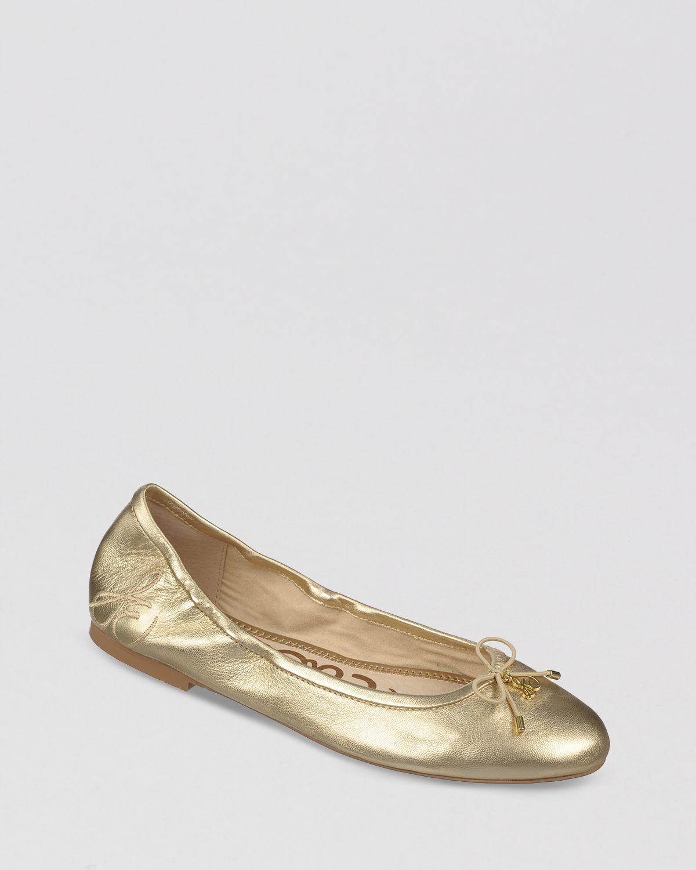 713b3766303989 Lyst - Sam Edelman Ballet Flats Felicia in Metallic