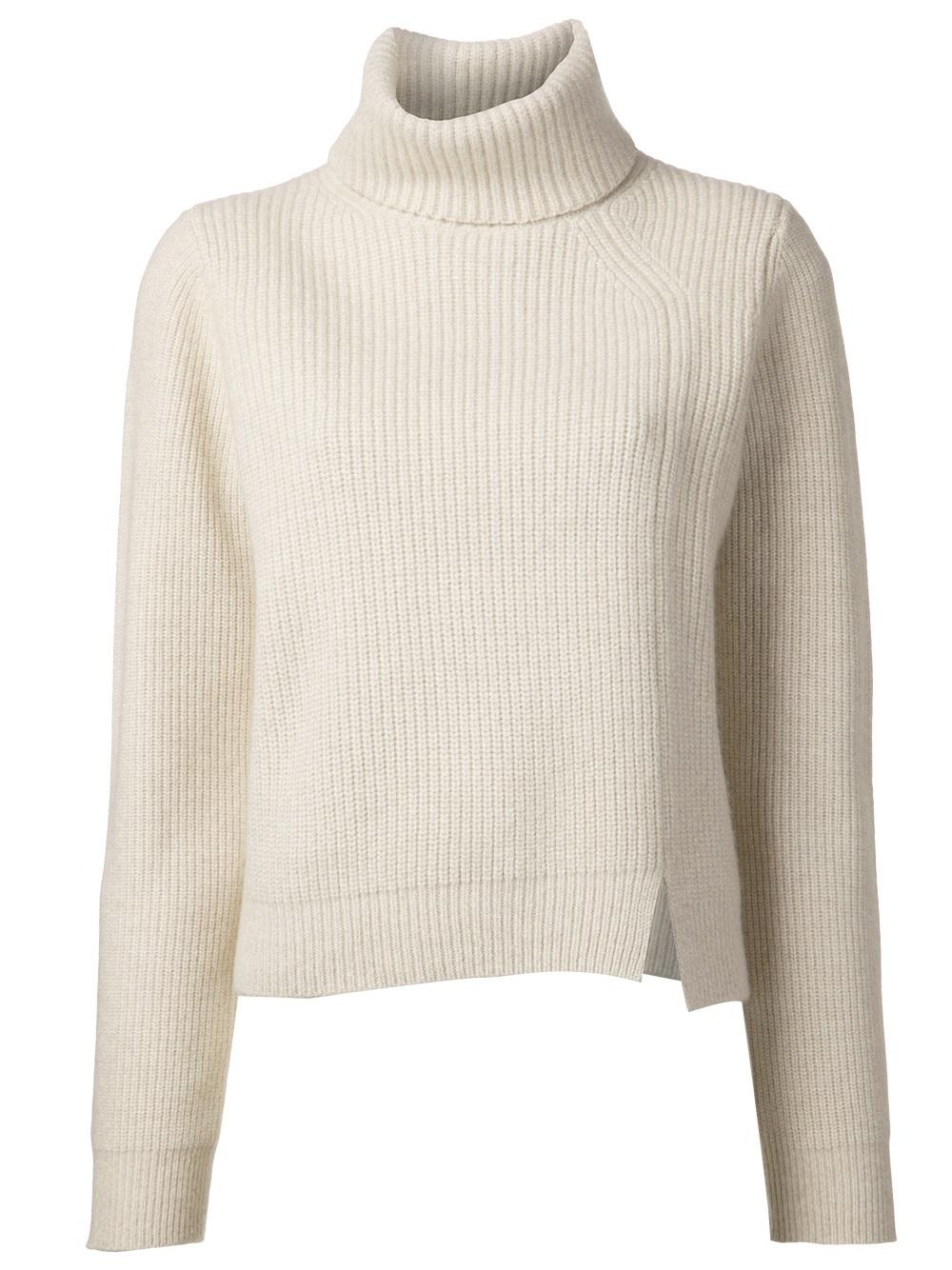 587d063aabd Proenza Schouler Turtleneck Sweater in Natural - Lyst