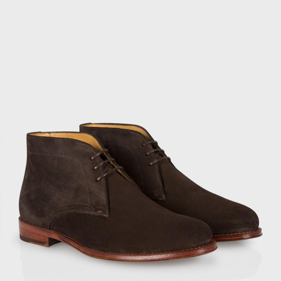 paul smith s brown suede desert boots in