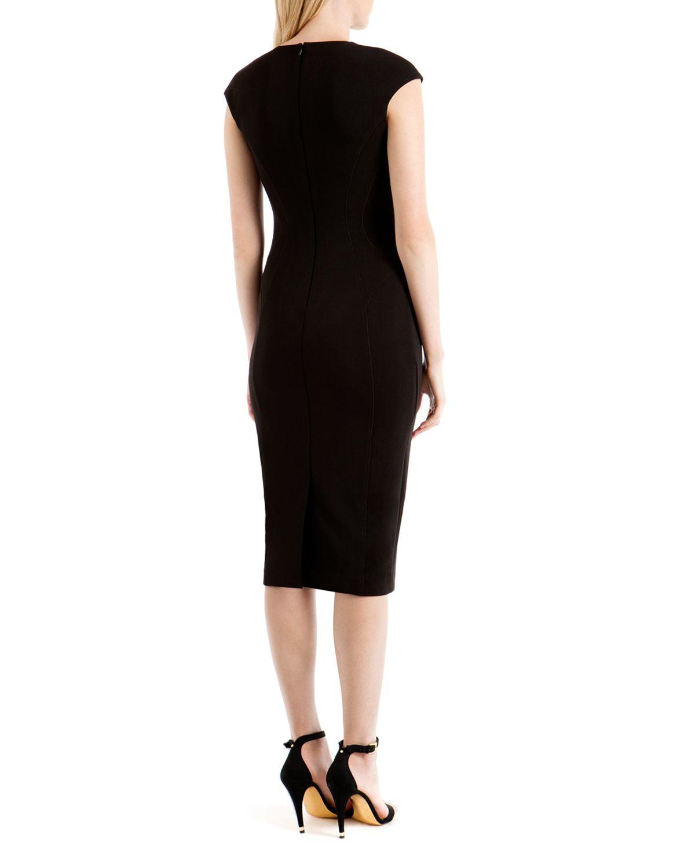 Ted Baker Dardee Jeweled Neckline Sheath Dress In Black Lyst