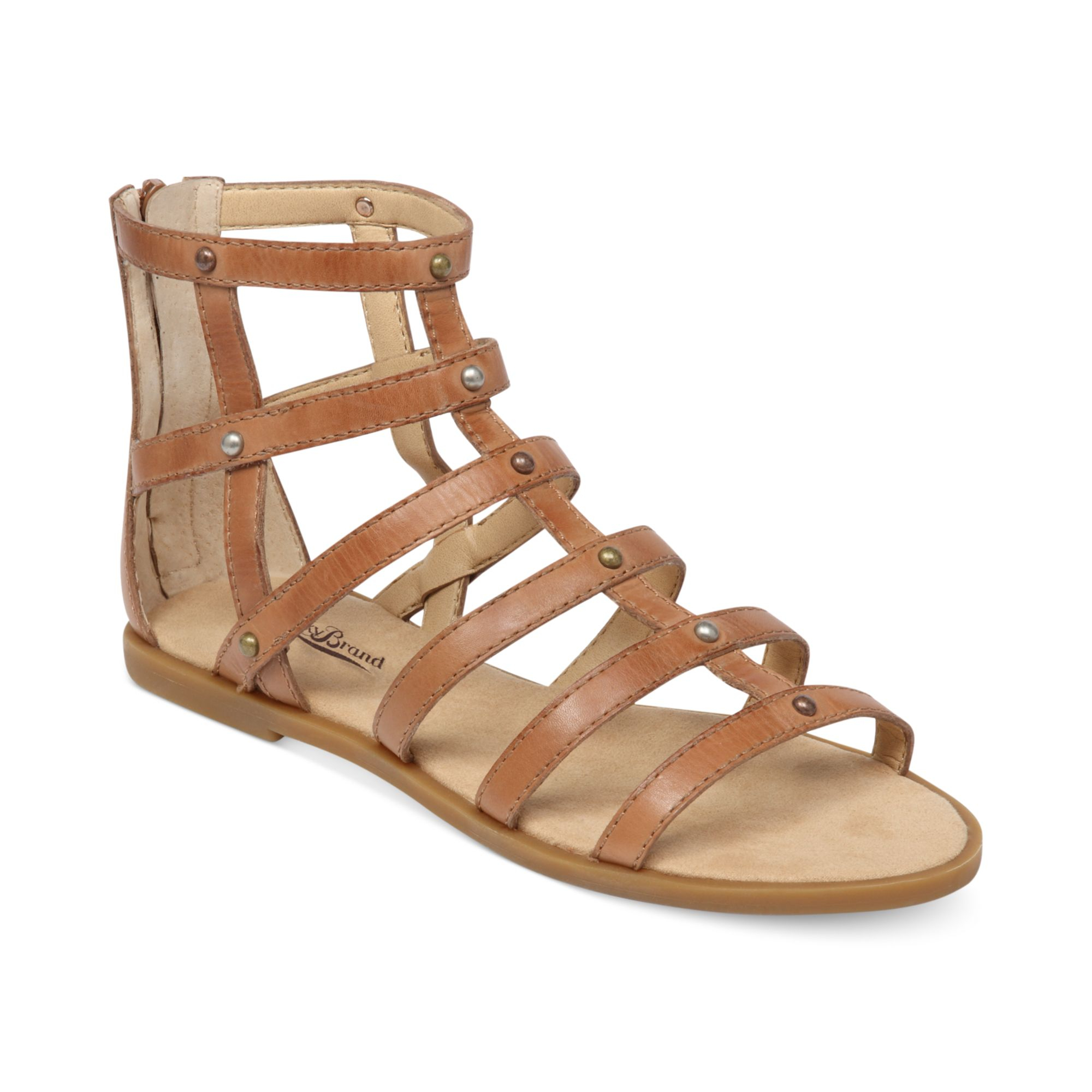 Lucky Brand Beverlee Gladiator Sandals In Brown Lyst