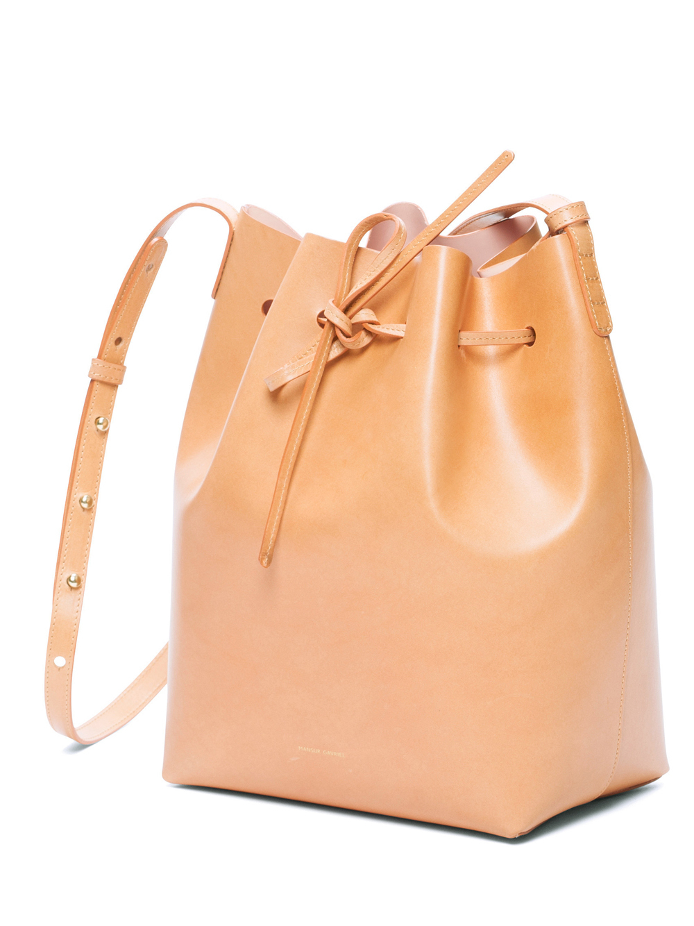 mansur gavriel leather bucket bag in natural lyst. Black Bedroom Furniture Sets. Home Design Ideas