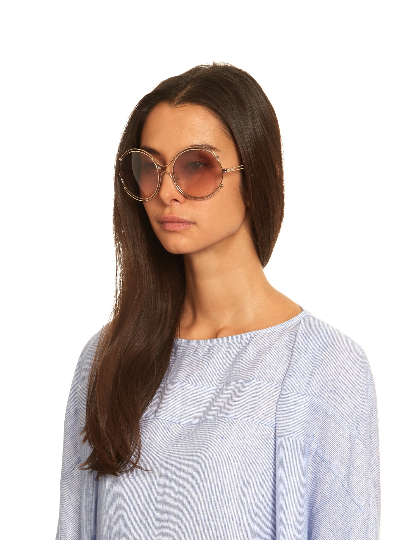a2530cdca9cd Lyst - Chloé Isidora Round-framed Sunglasses in Pink
