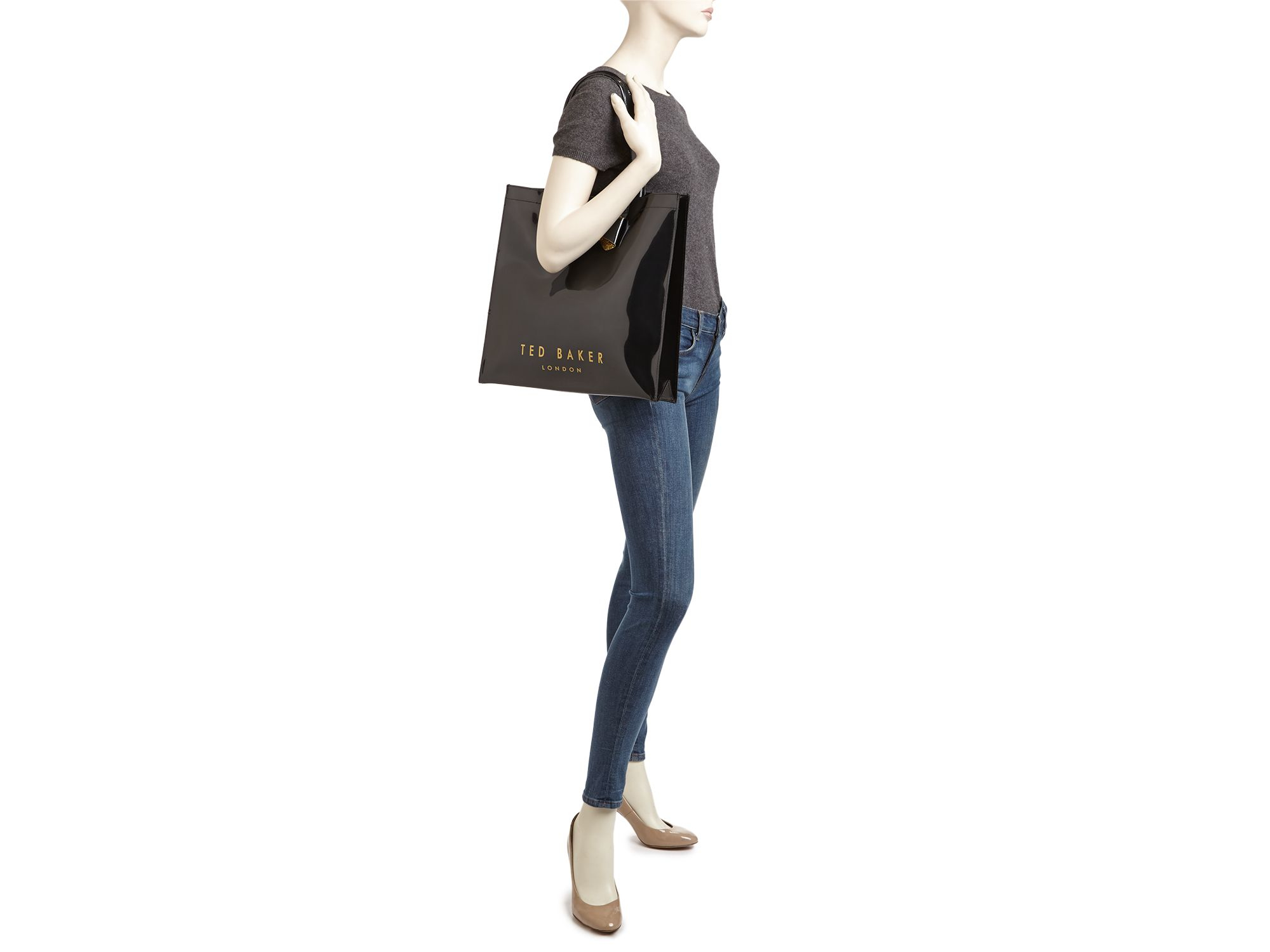 671341d677 Lyst ted baker glitter bow large icon tote in black jpg 2000x1500 Large  icon ted baker