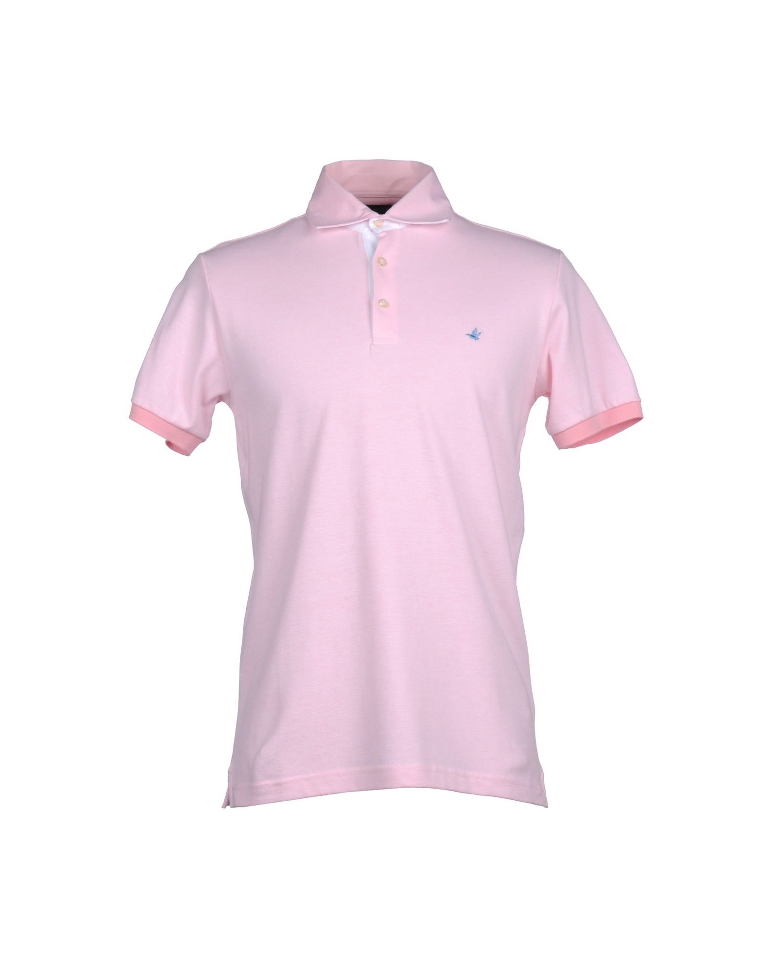 brooksfield polo shirt in pink for men lyst