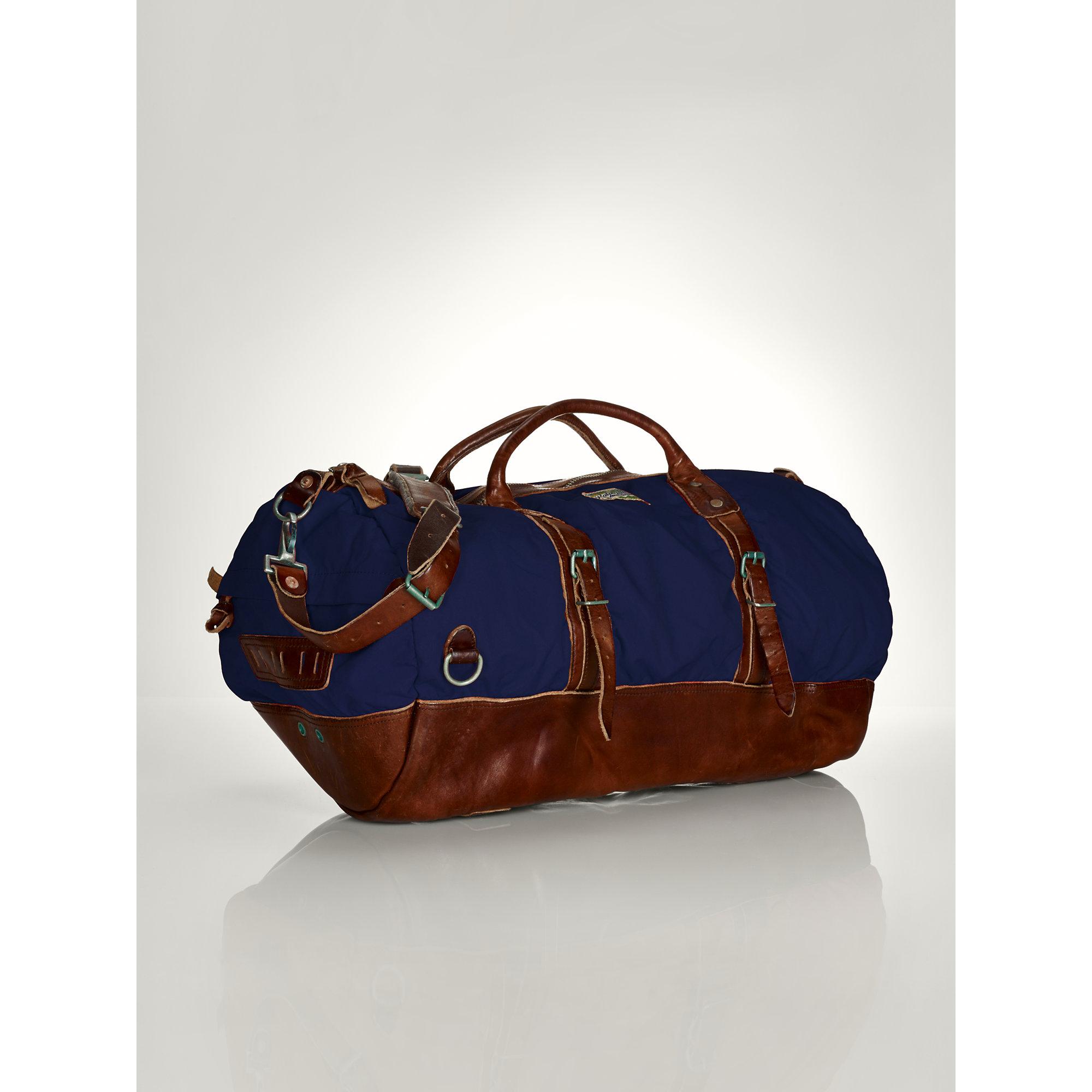 Lyst - Ralph Lauren Nylon Duffel Bag in Blue for Men 6b878f773c07e