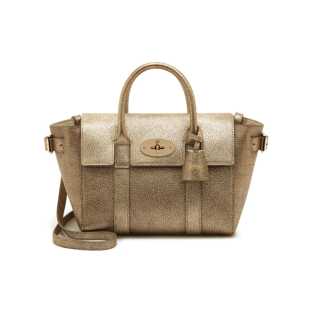 Mulberry mini bayswater buckle in metallic lyst for The bayswater
