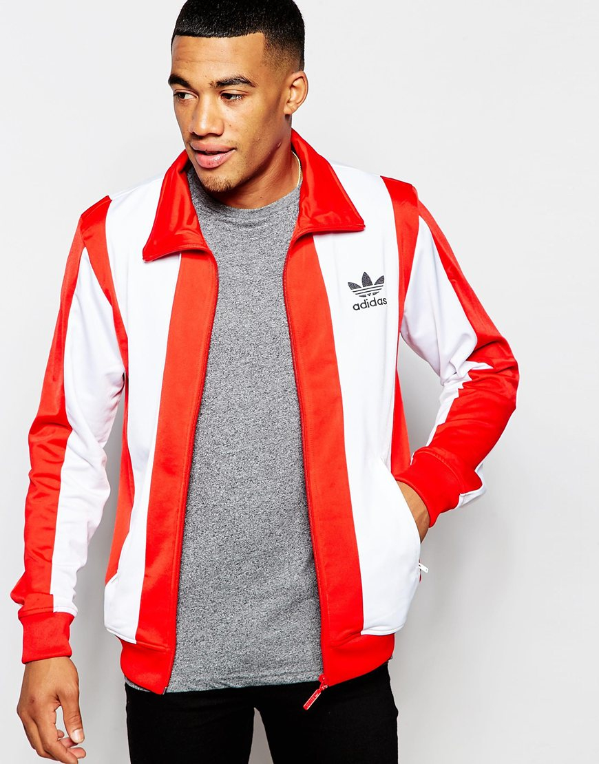 bd4c5195351f Lyst - adidas Originals Beckenbauer Track Jacket Ab7455 in Red for Men