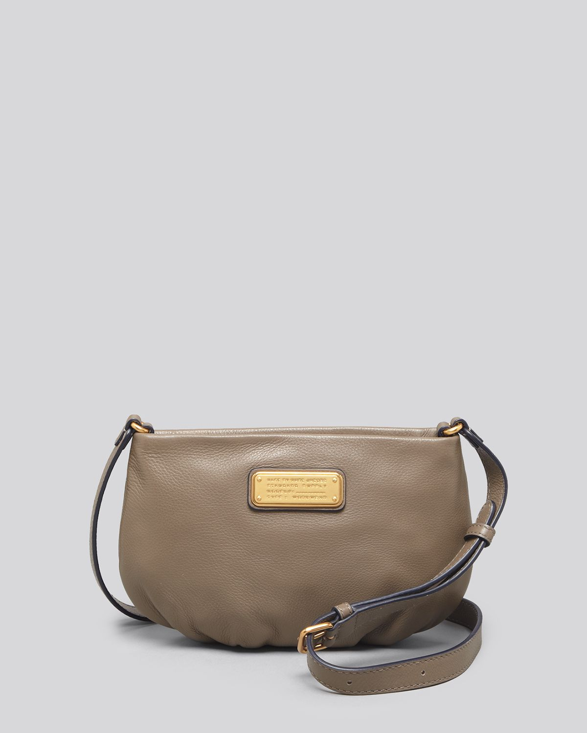 marc by marc jacobs crossbody new q percy in brown puma taupe lyst. Black Bedroom Furniture Sets. Home Design Ideas