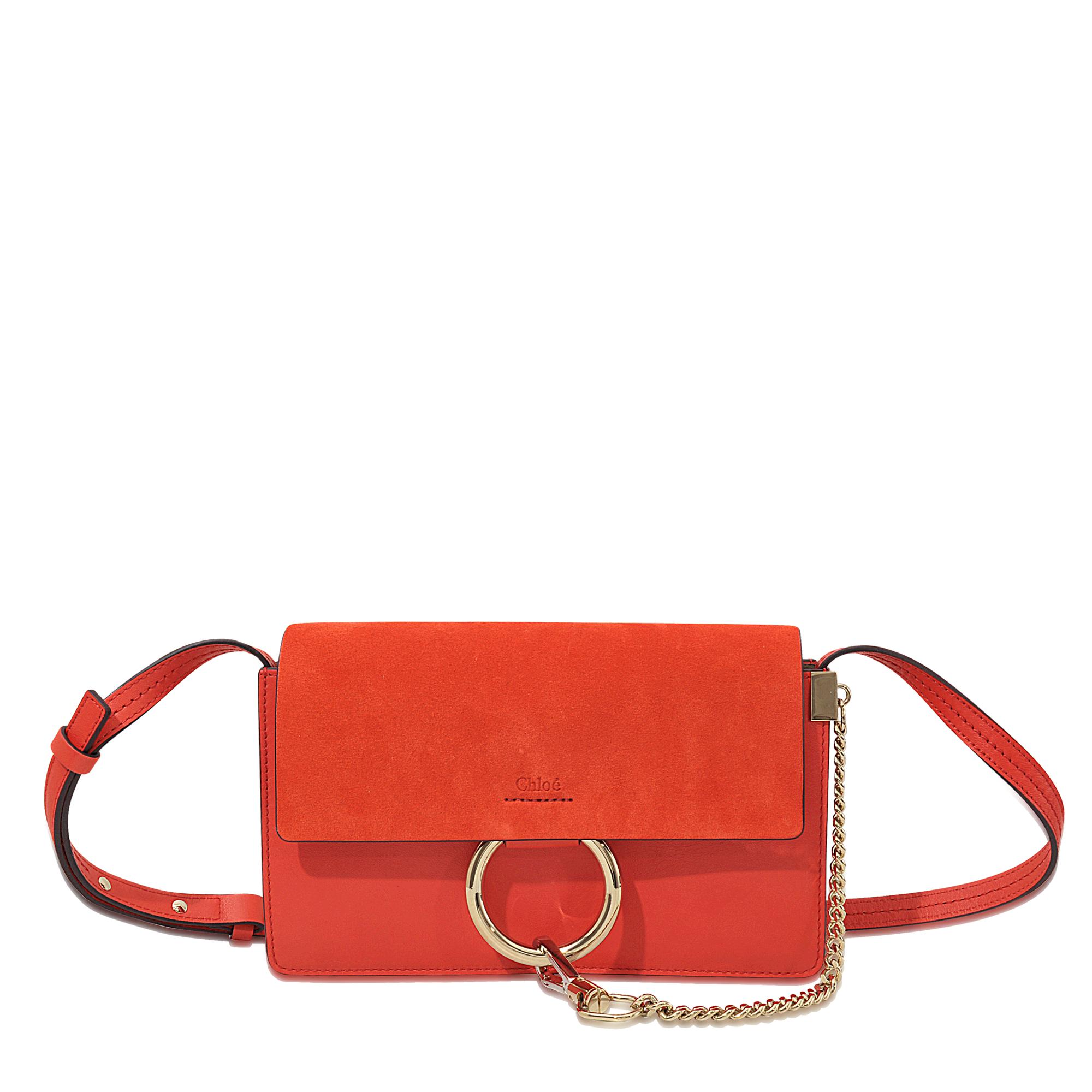 chloe hand bag - chloe faye medium clutch with strap bag, shop chloe online