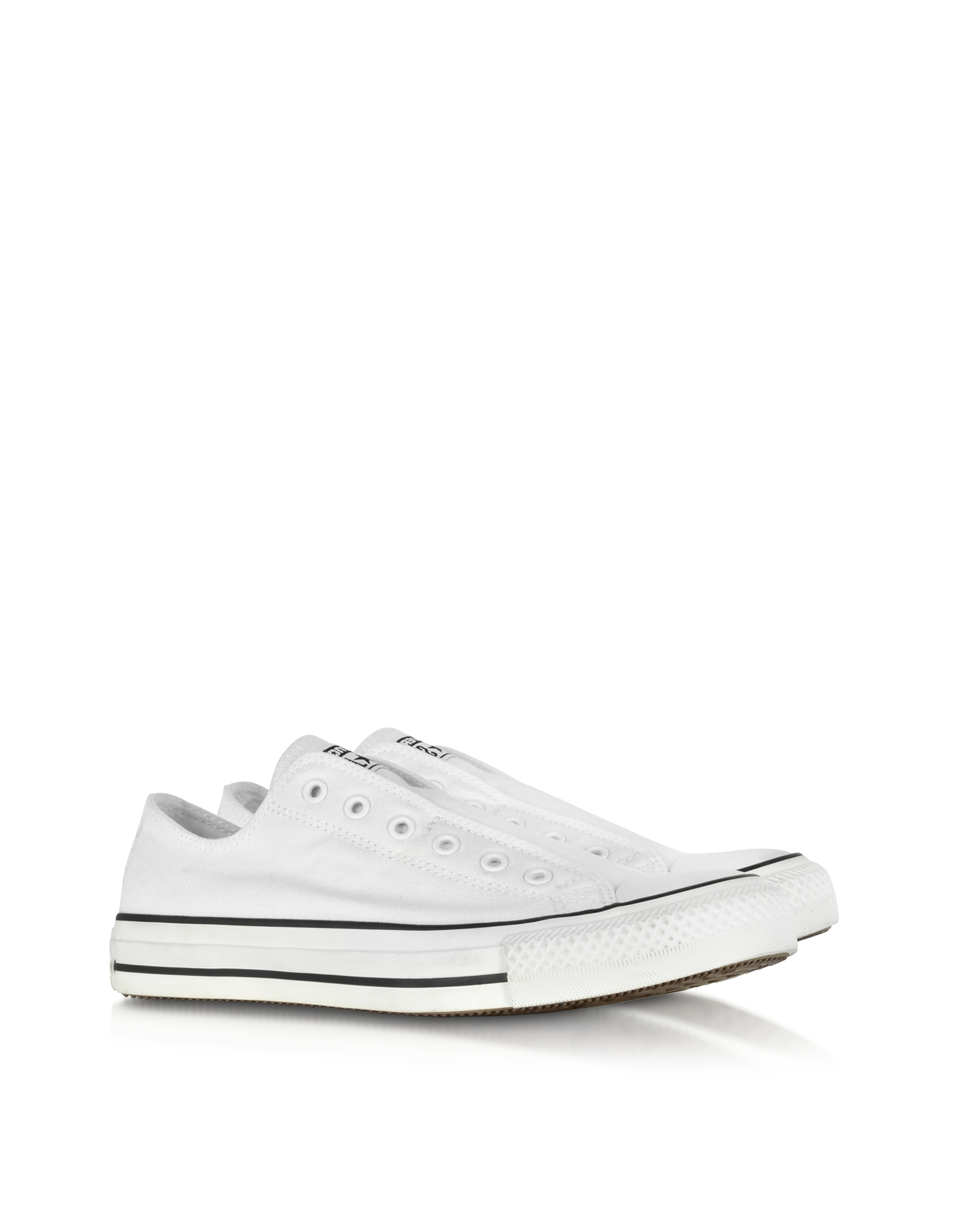 converse all ox optical white canvas slip sneaker in