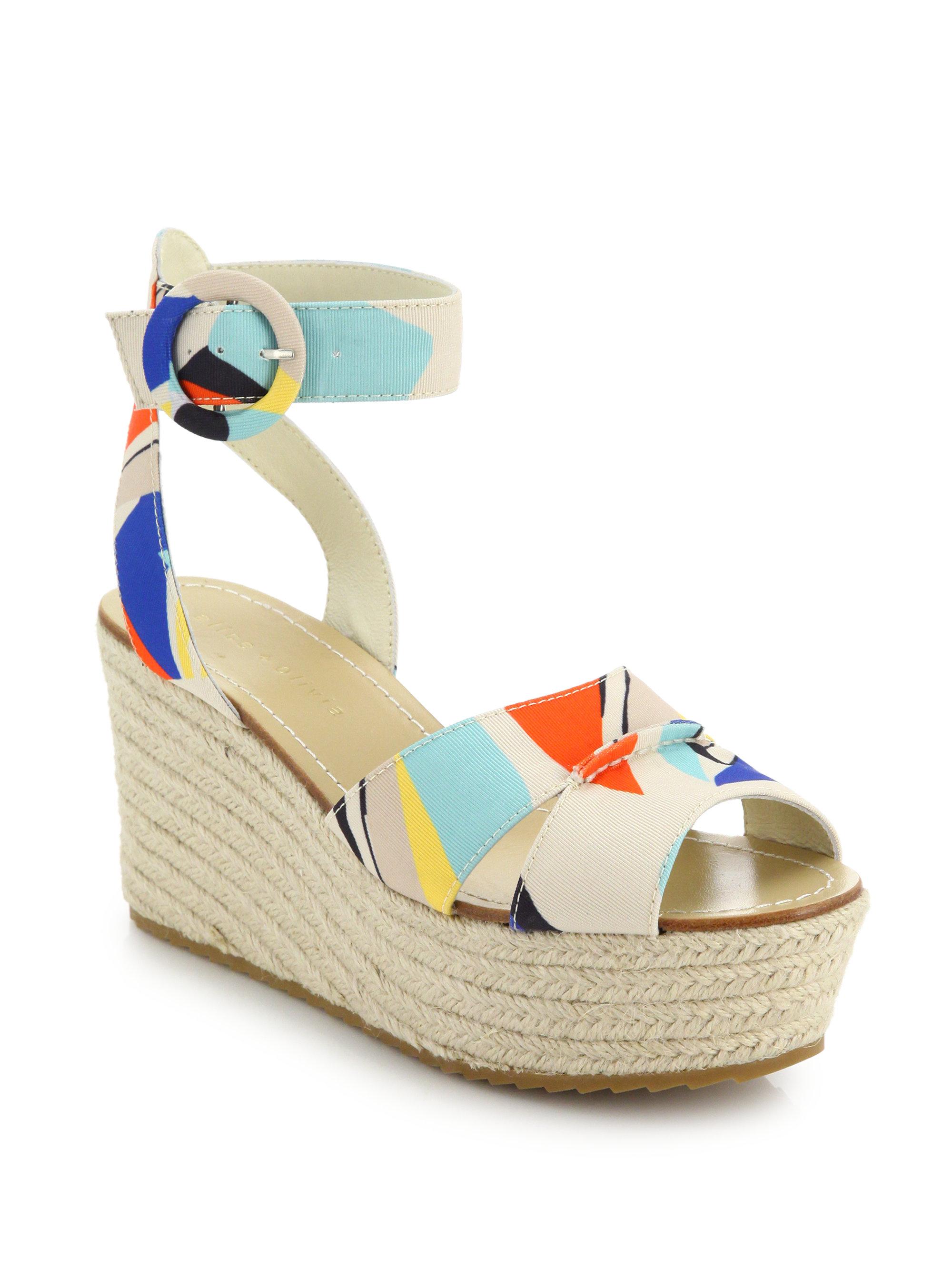 Alice + Olivia Printed Canvas Espadrilles cheap buy authentic cheap prices reliable WCLXUbdL6