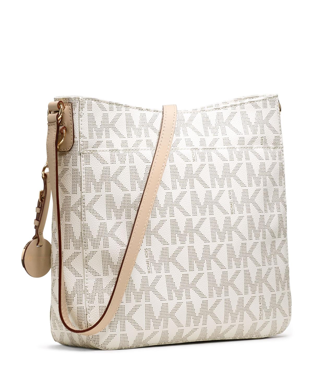 Michael Kors Jet Set Travel Large Messenger Bag Vanilla