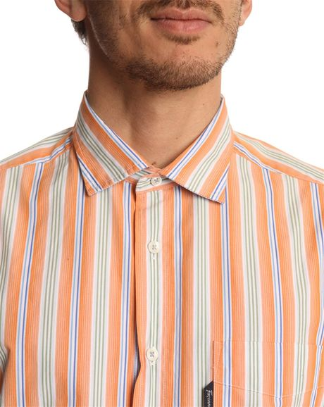 Orange Striped Shirt Mens Melon Orange Striped Shirt