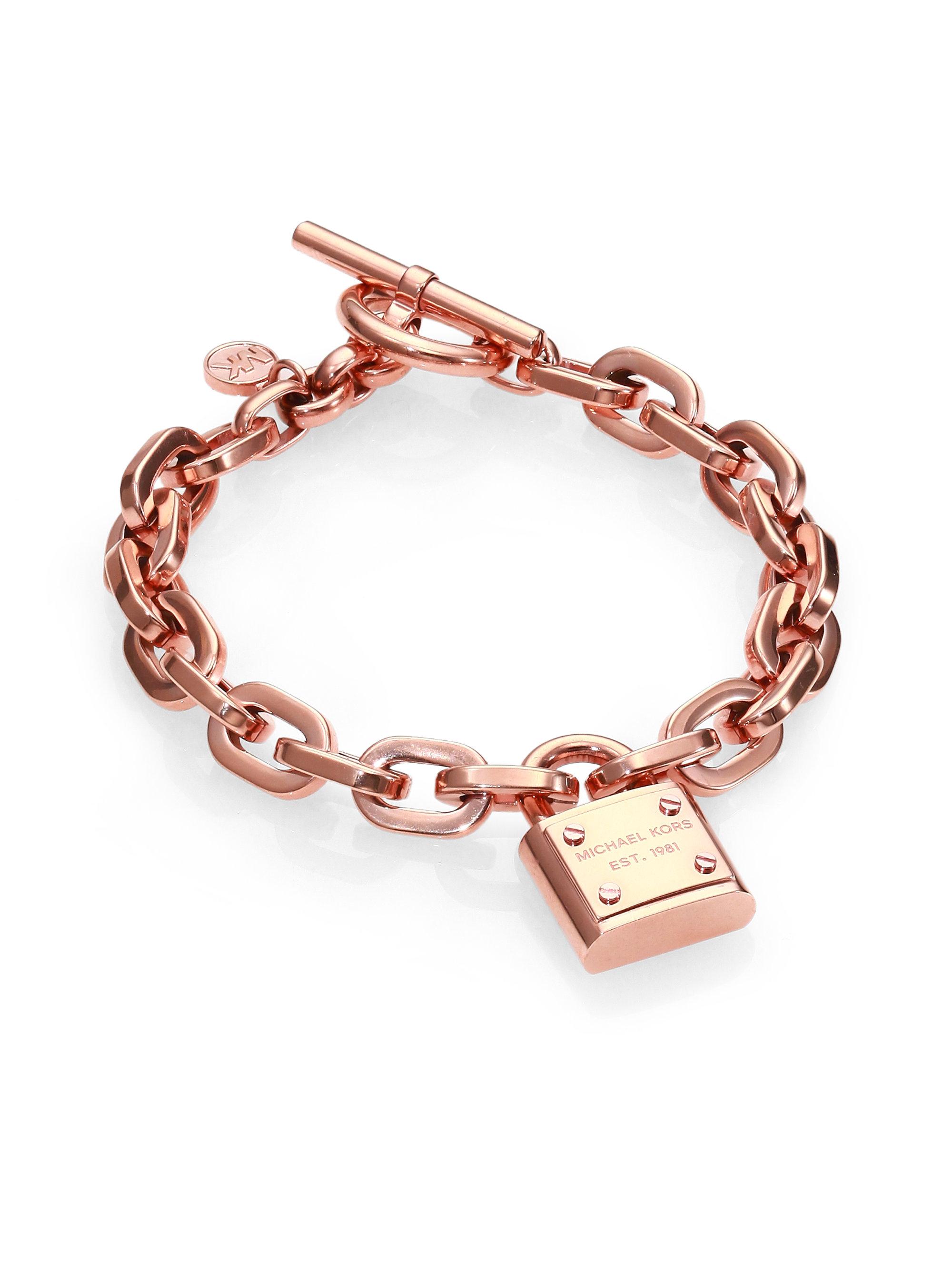 Michael Kors Padlock Charm Bracelet/Rose in Gold (ROSE ...