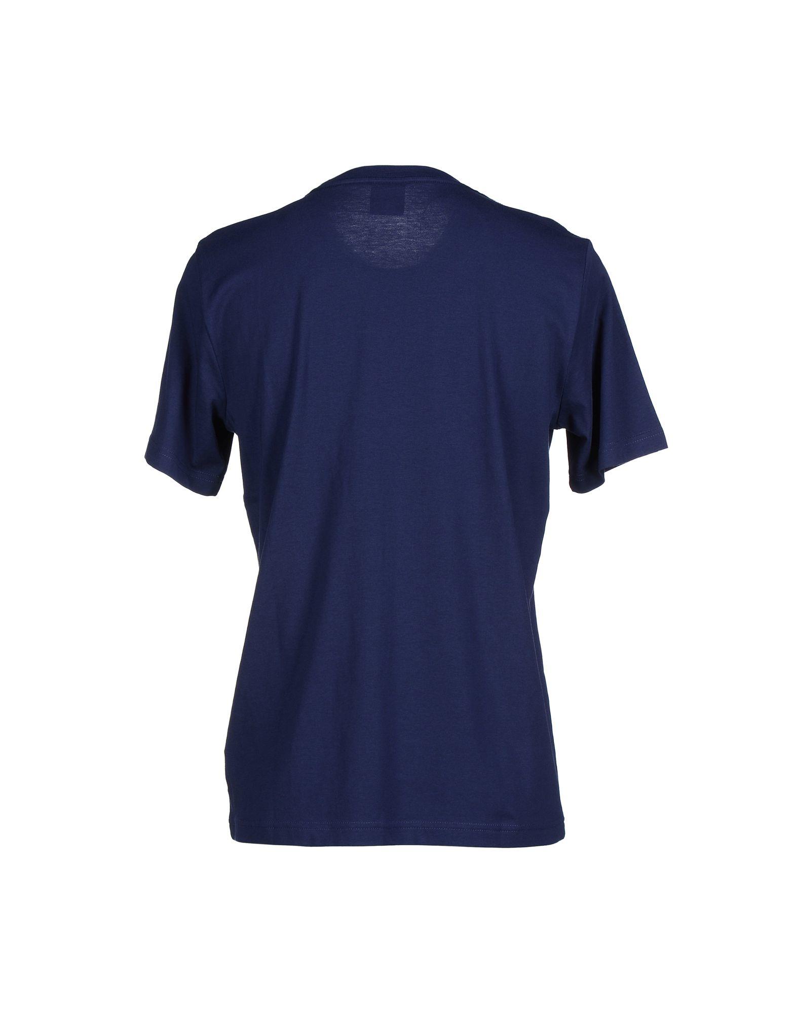 Puma t shirt in blue for men dark blue lyst for T shirt dark blue