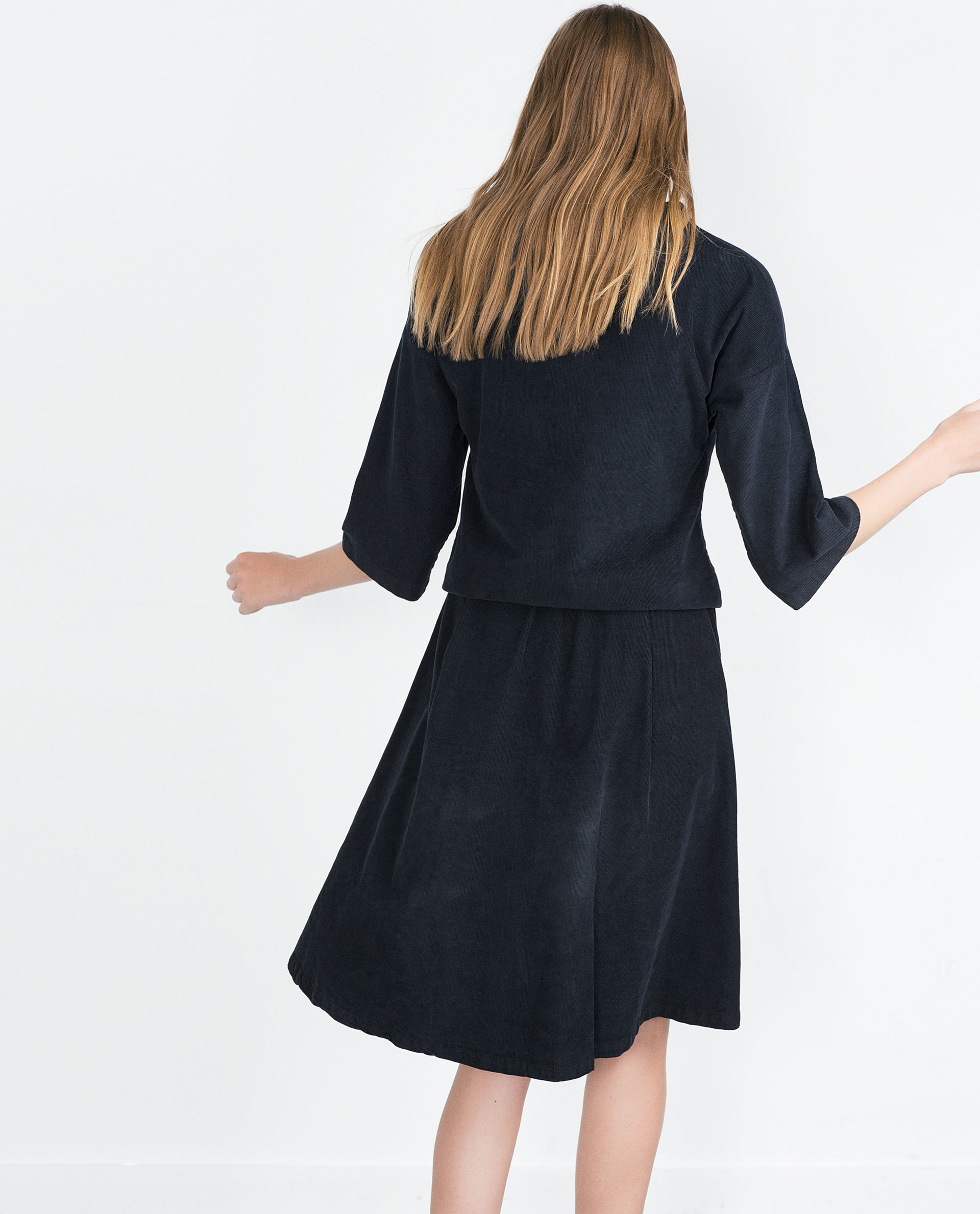 Blue Corduroy Skirt 16