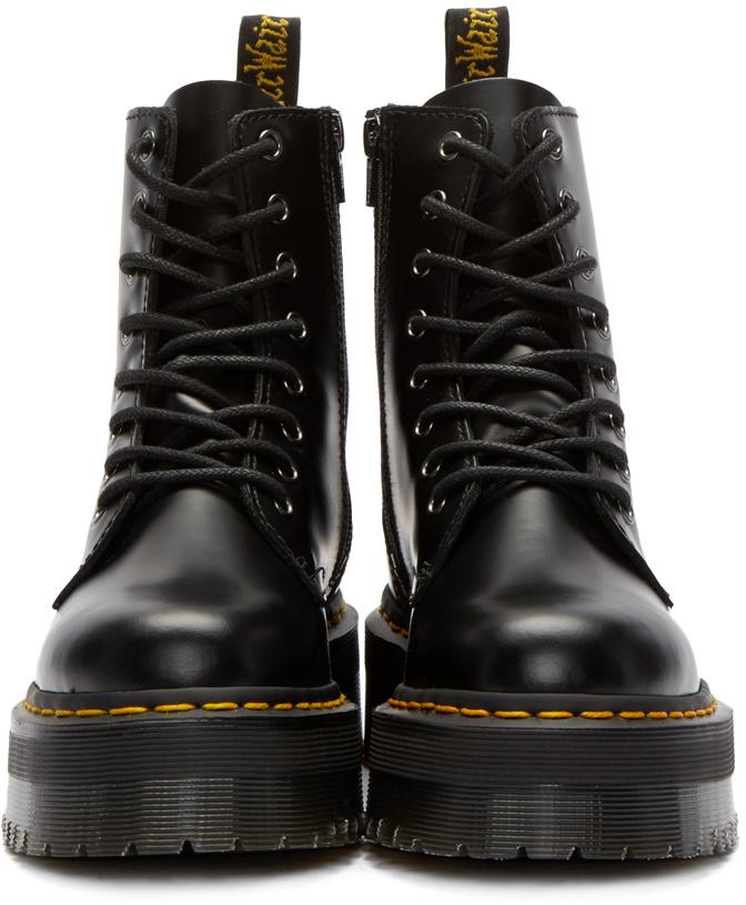 Lyst - Dr. Martens Black Eight-eye Jadon Boots in Black accff3c645