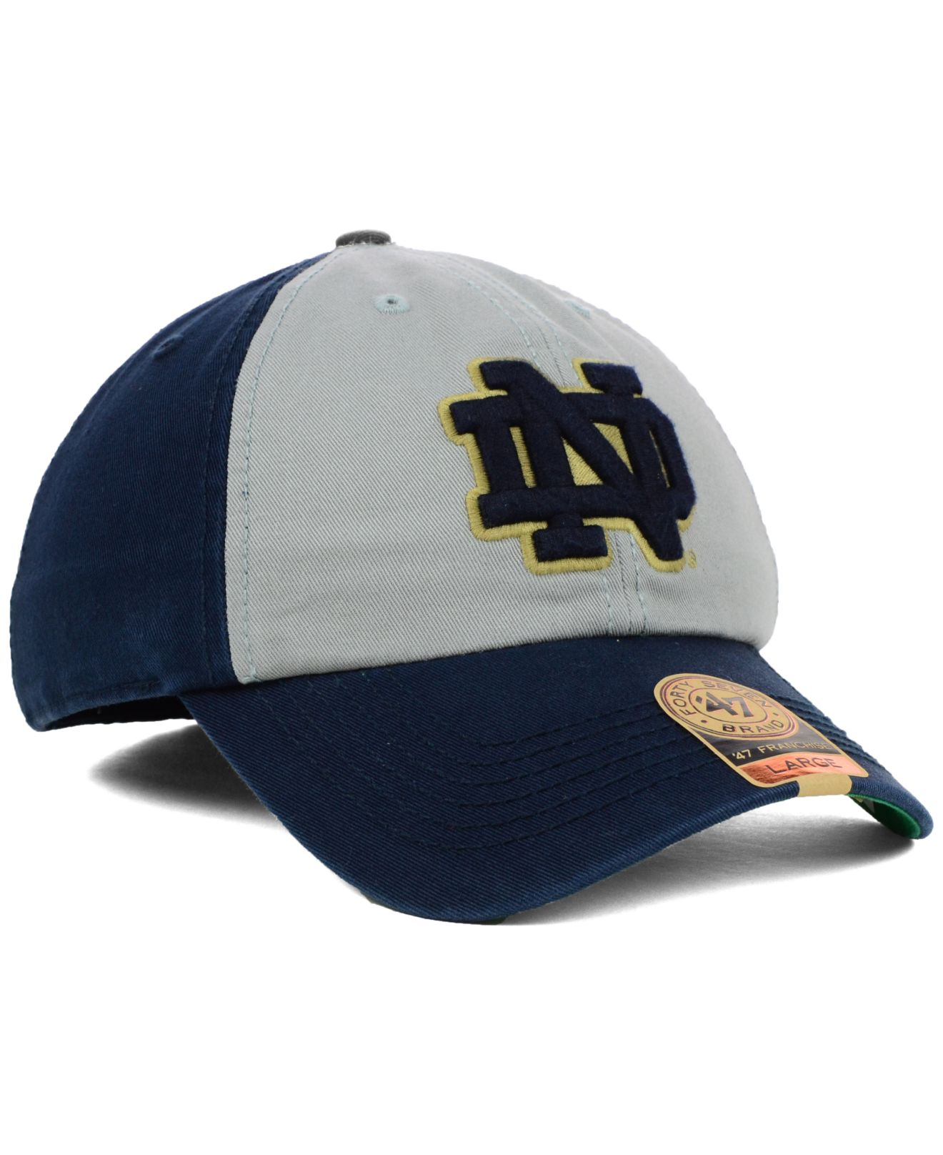 the best attitude 4f8a1 b124b Lyst - 47 Brand Notre Dame Fighting Irish Vip Franchise Cap in Blue ...
