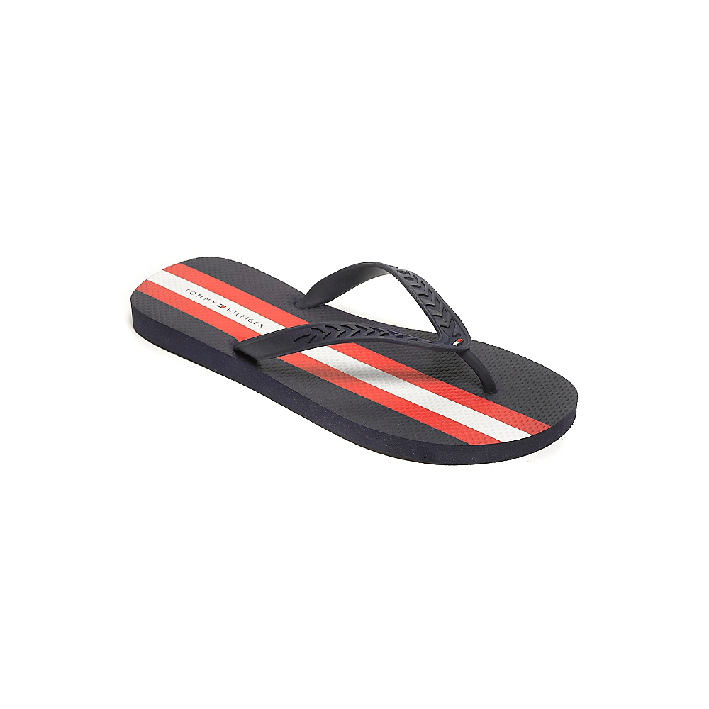 tommy hilfiger flip flop in blue for men navy red lyst. Black Bedroom Furniture Sets. Home Design Ideas