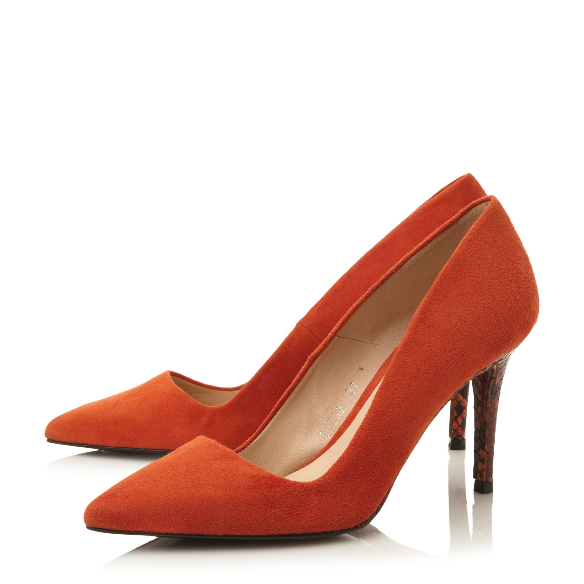 Orange Patent Leather Court Shoes